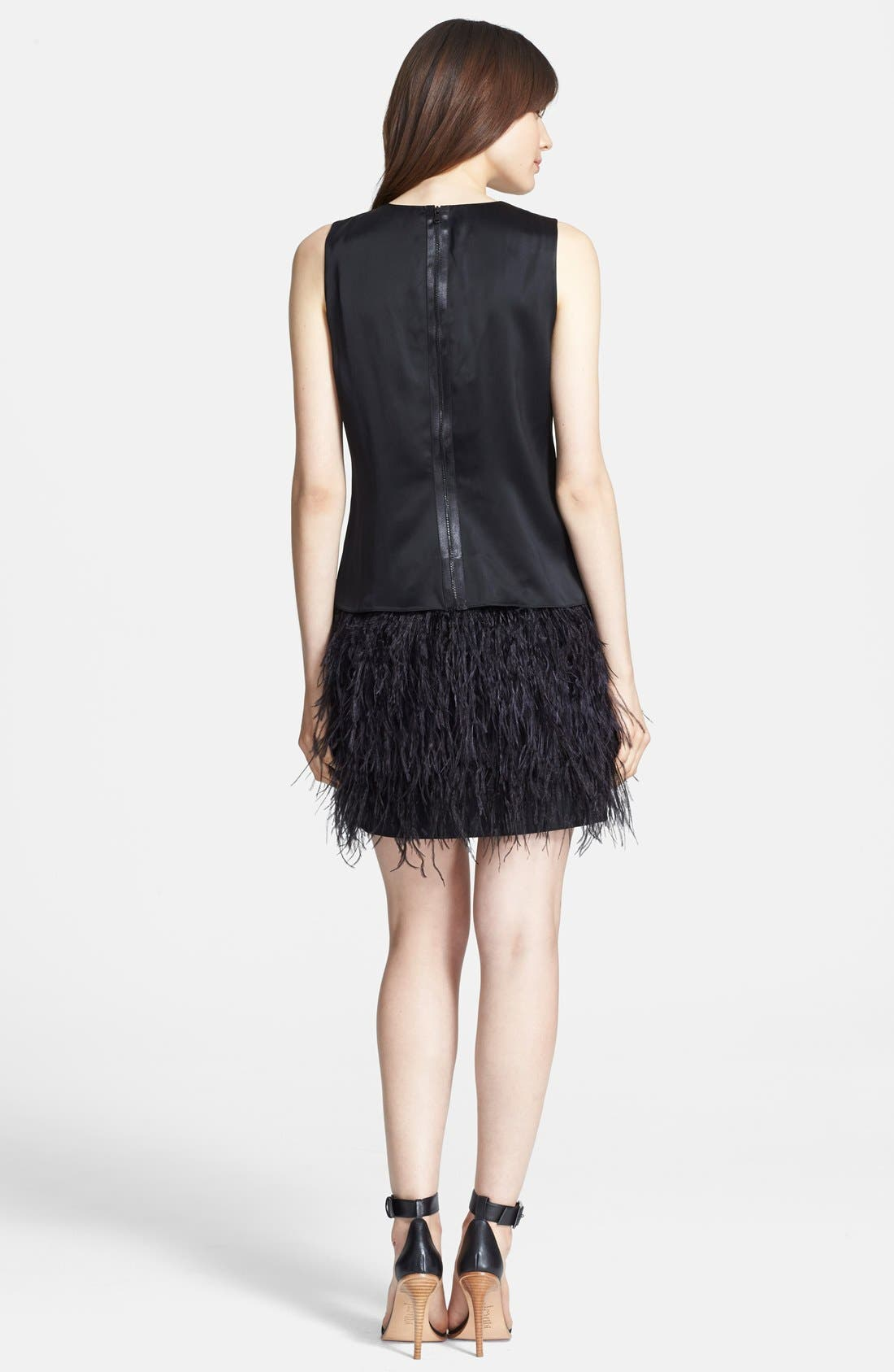 Alternate Image 2  - Tibi 'Cera Tuxedo' Ostrich Feather Dress