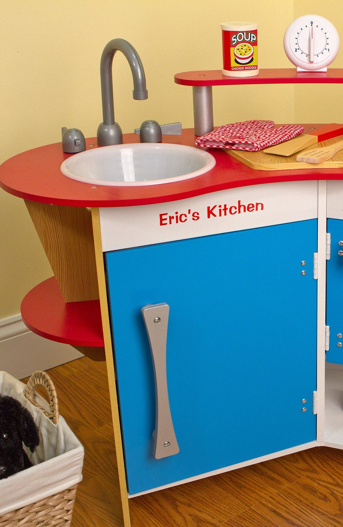 'Cook's Corner' Personalized Kitchen,                             Main thumbnail 1, color,                             Red
