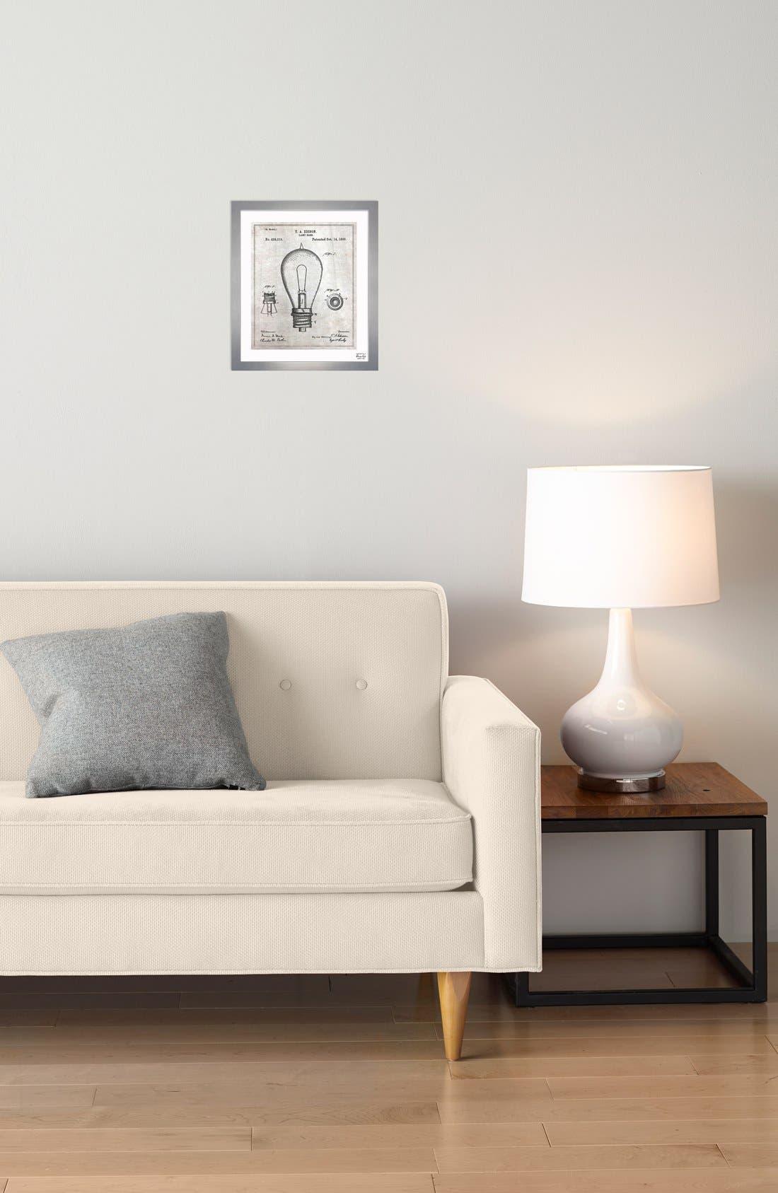 Alternate Image 2  - Oliver Gal 'Edison Lamp Base' Wall Art
