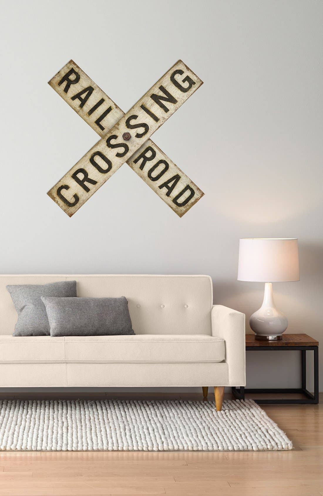 Alternate Image 2  - Spicher and Company 'Railroad Crossing' Vintage Look Sign Artwork