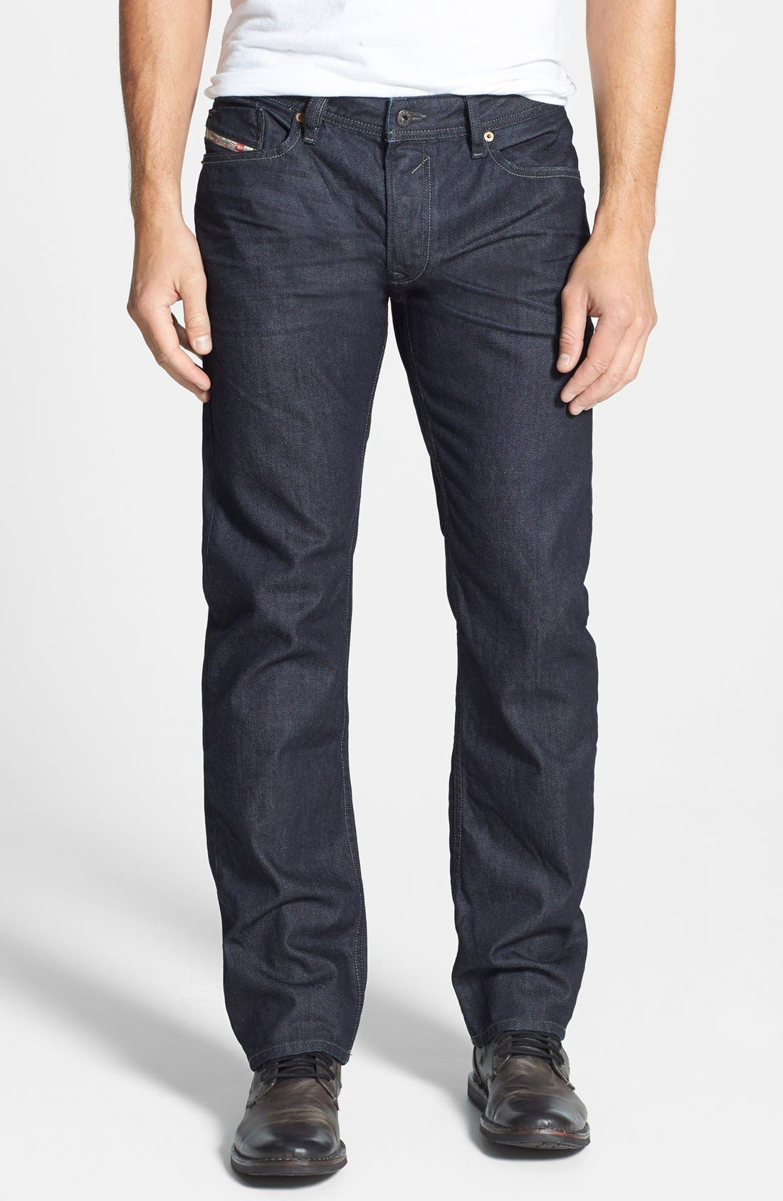 Main Image - DIESEL® Waykee Straight Leg Jeans (0Z88)