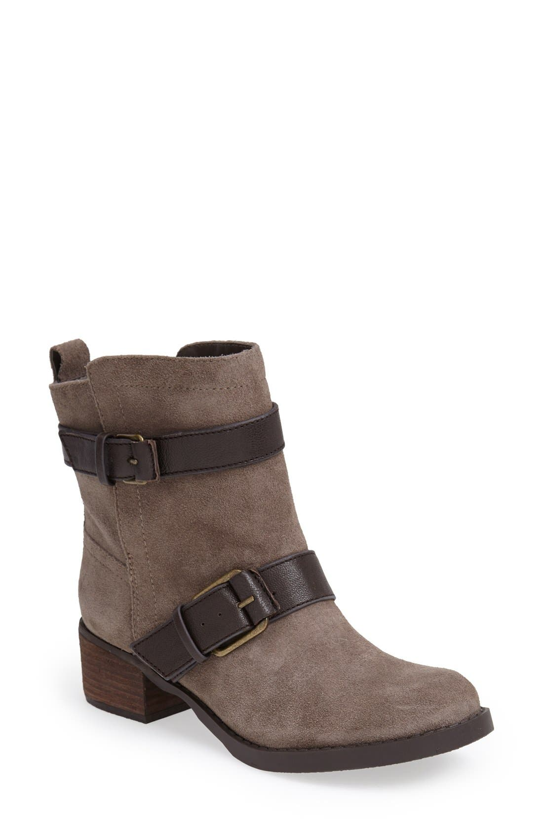 Alternate Image 1 Selected - Sole Society 'Kai' Suede Moto Boot (Women)