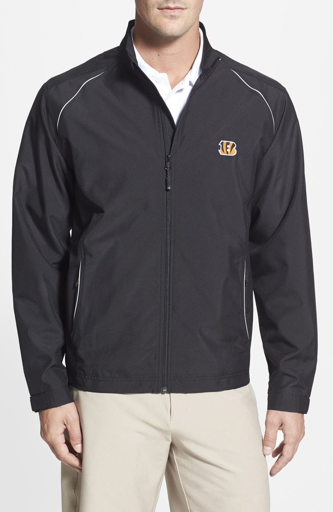 Alternate Image 1 Selected - Cutter & Buck 'Cincinnati Bengals - Beacon' WeatherTec Wind & Water Resistant Jacket