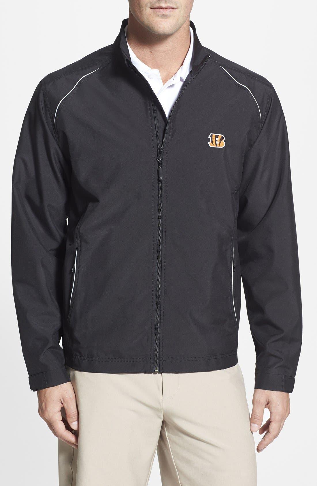 'Cincinnati Bengals - Beacon' WeatherTec Wind & Water Resistant Jacket,                         Main,                         color, Black