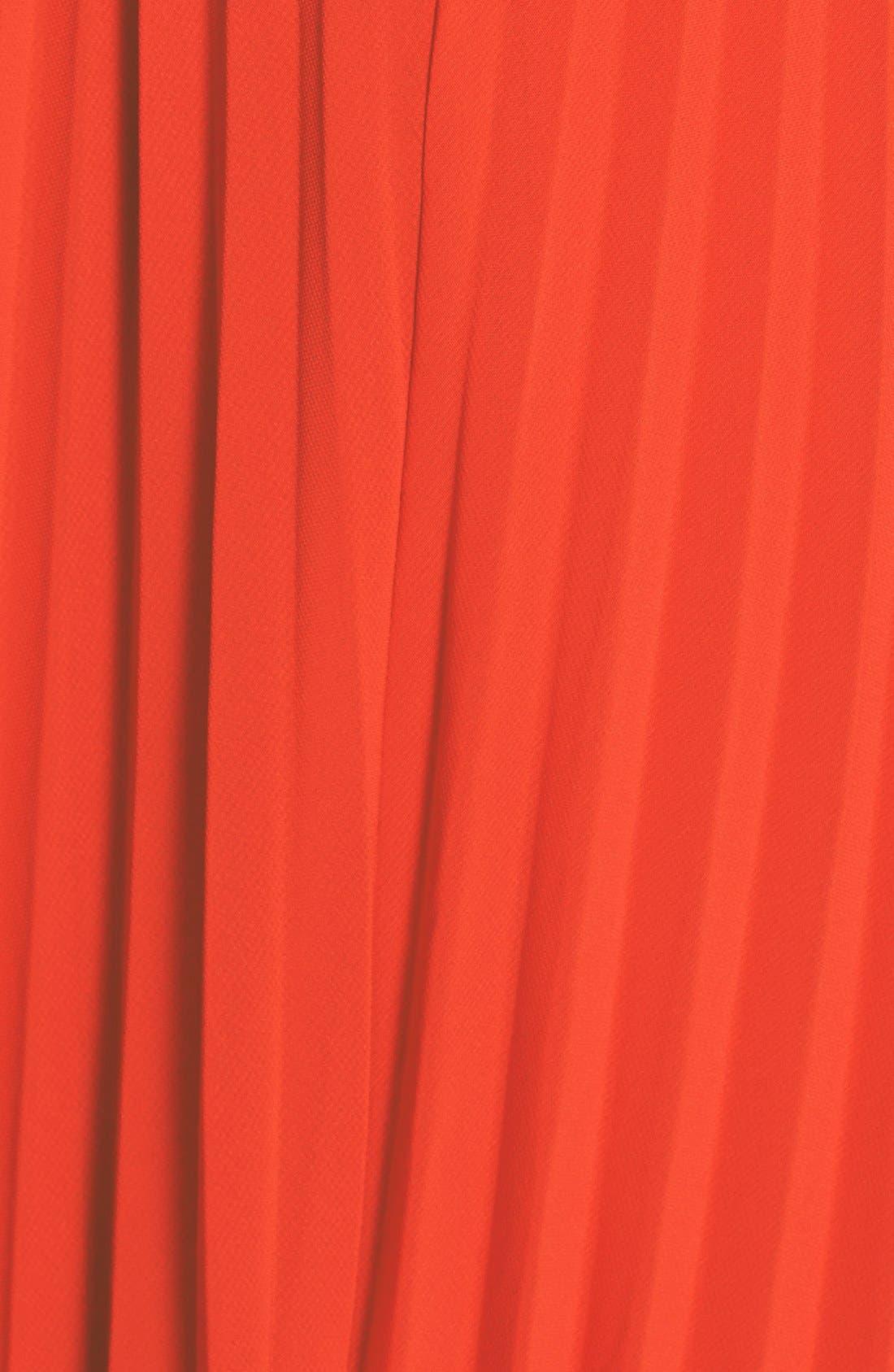 Alternate Image 3  - Xscape Pleated Chiffon Gown (Regular & Petite)