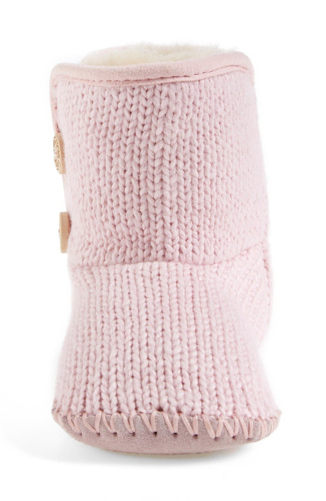Alternate Image 3  - UGG® Purl Knit Bootie (Baby & Walker)