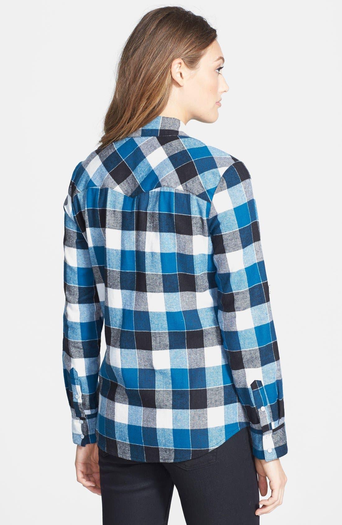 Alternate Image 3  - Sandra Ingrish Plaid Flannel Shirt