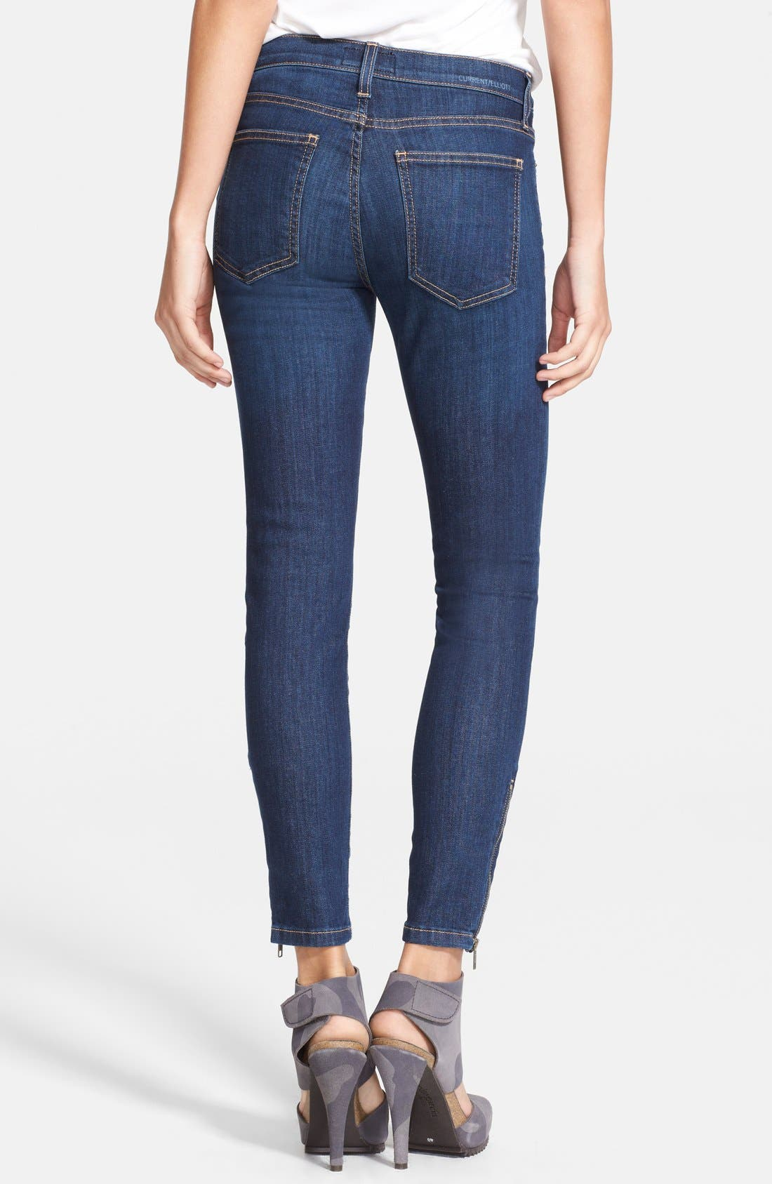 Alternate Image 2  - Current/Elliott 'The Zip Stiletto' Skinny Jeans (Bowler)