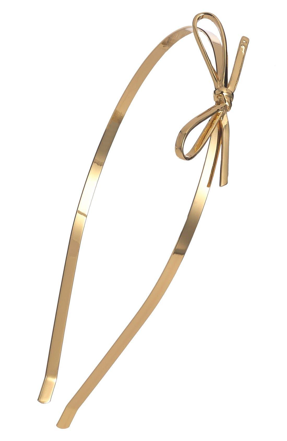 Alternate Image 1 Selected - kate spade new york skinny mini metal headband