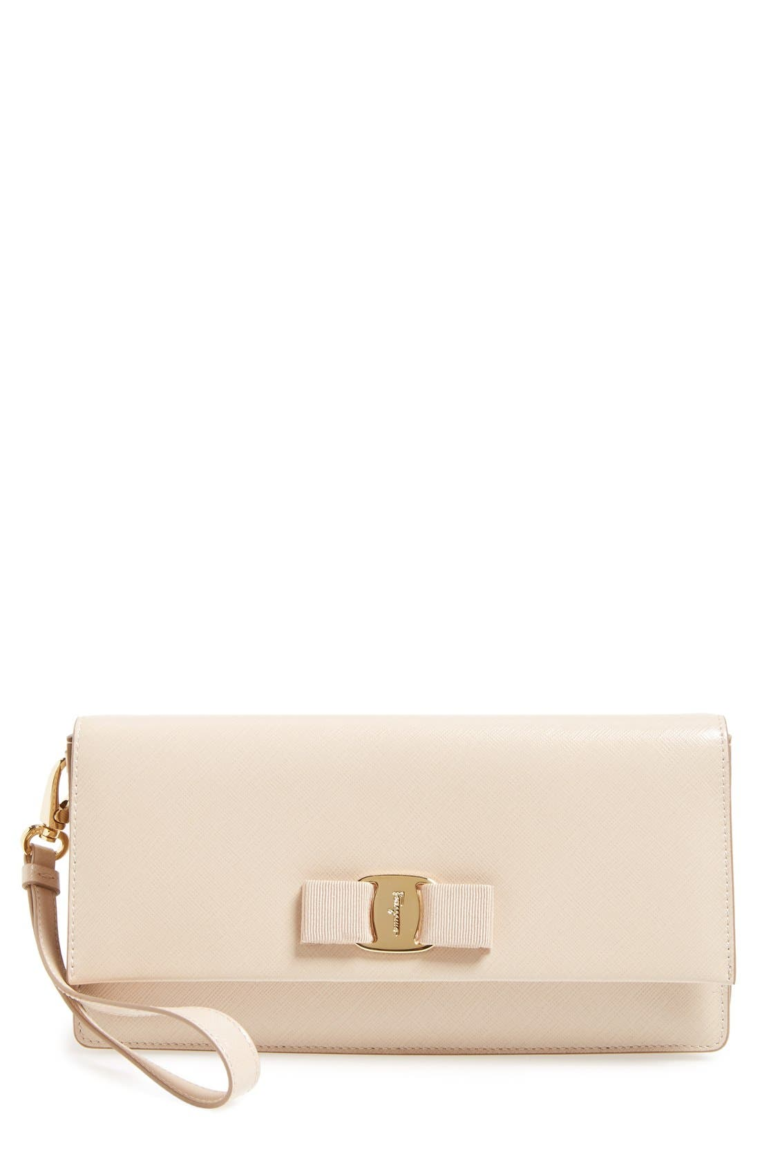 'Camy' Clutch,                         Main,                         color, New Bisque