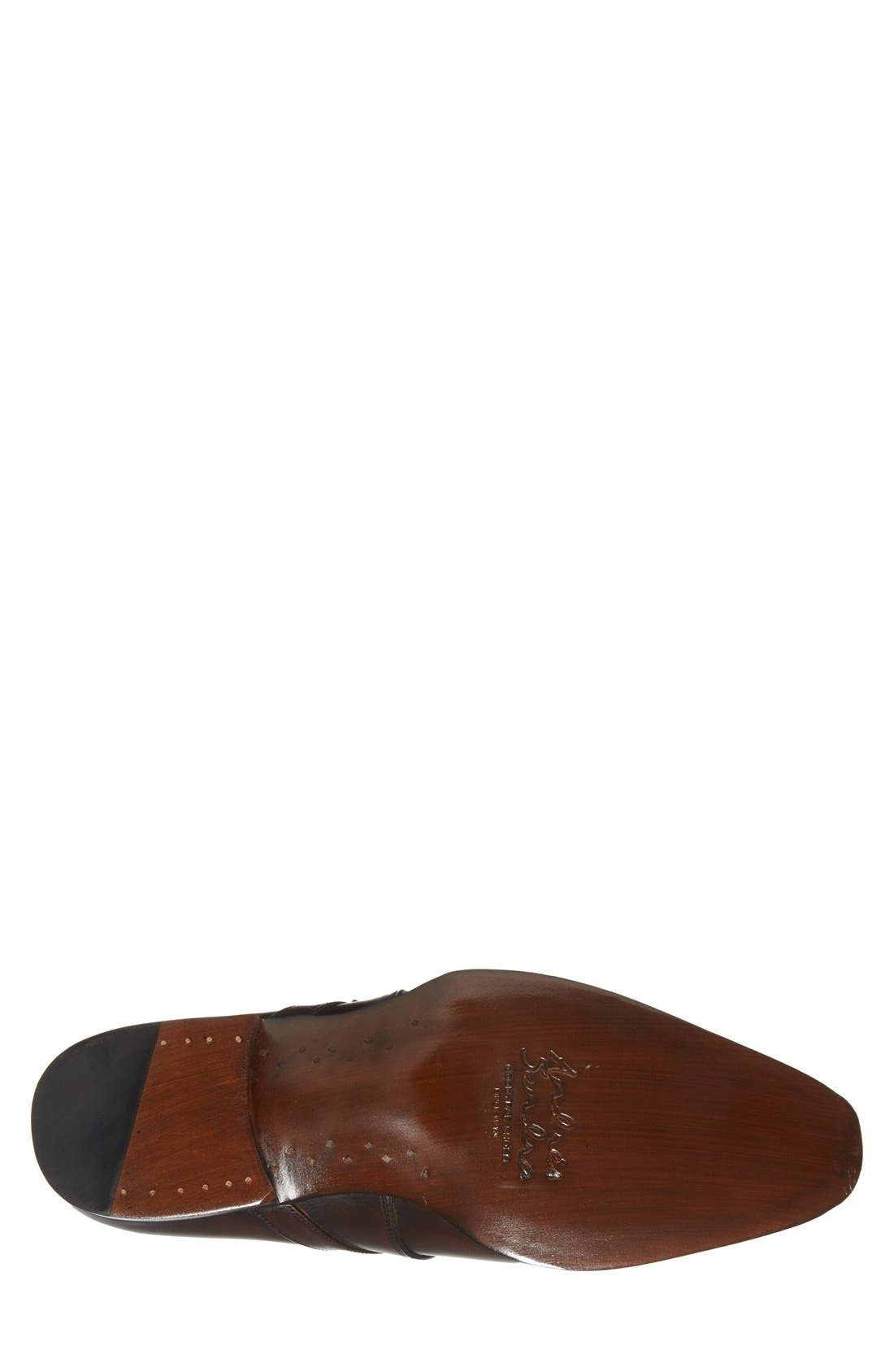 'Galway' Monk Strap Slip-On,                             Alternate thumbnail 4, color,                             Brown
