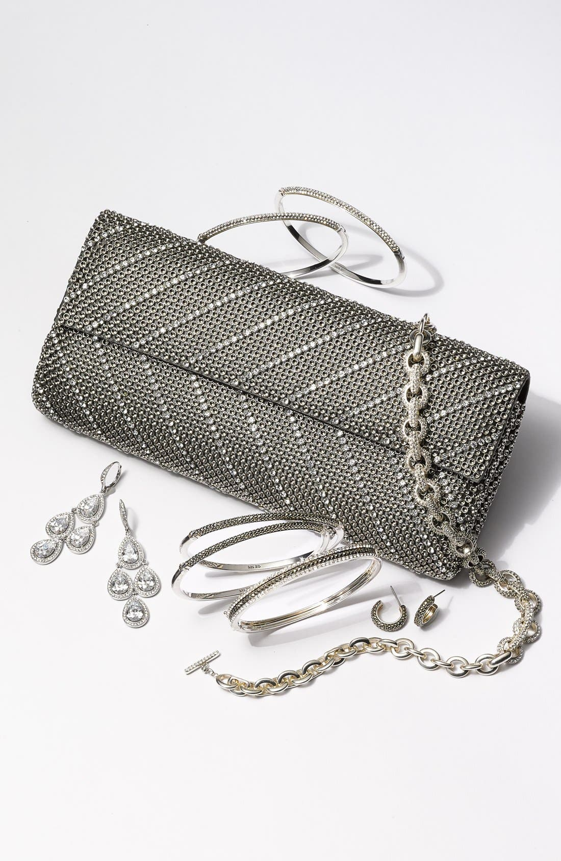 Alternate Image 2  - Whiting & Davis 'Crystal Chevron' Flap Clutch