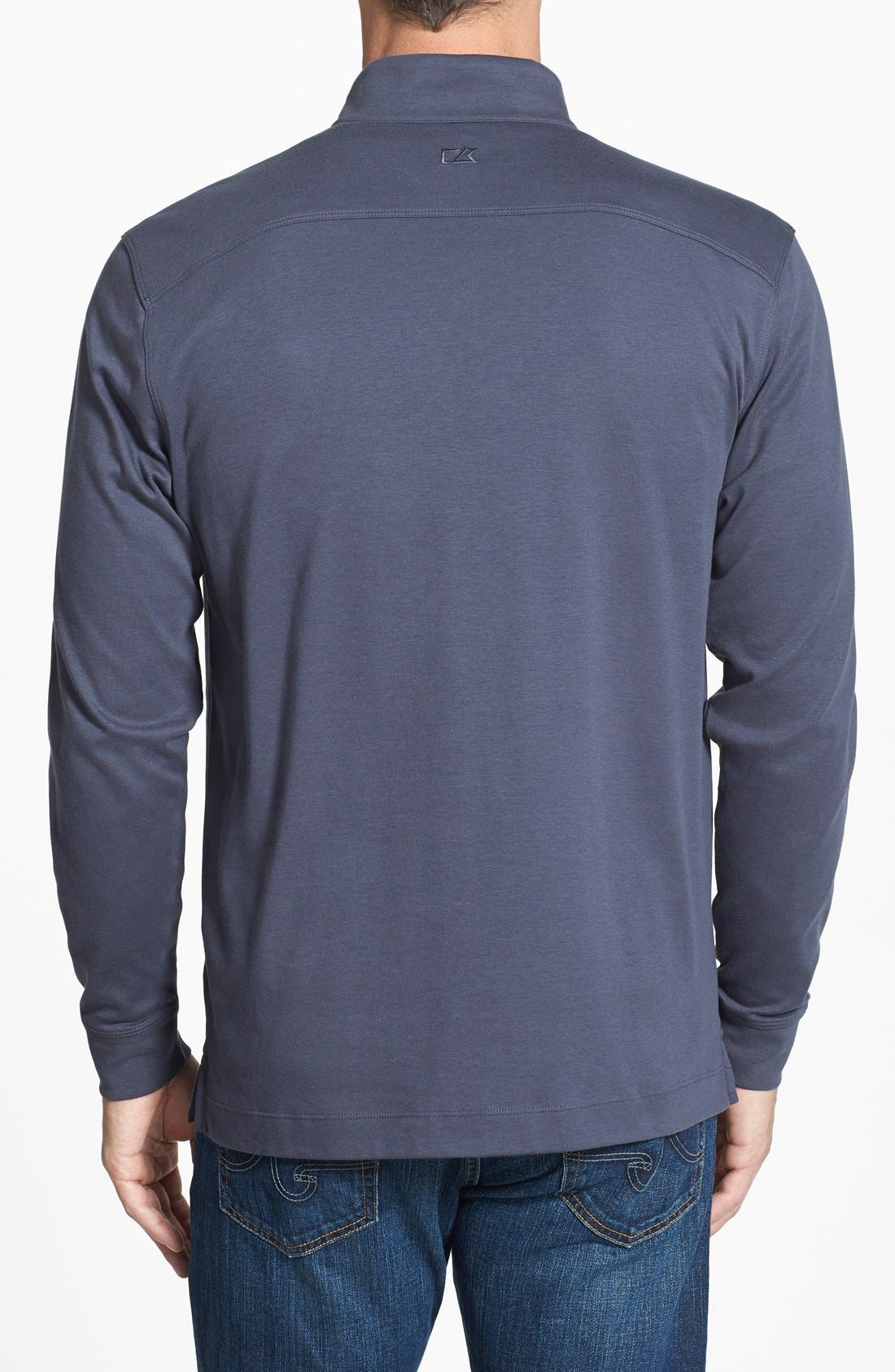 Belfair Quarter Zip Pullover,                             Alternate thumbnail 2, color,                             Onyx Grey