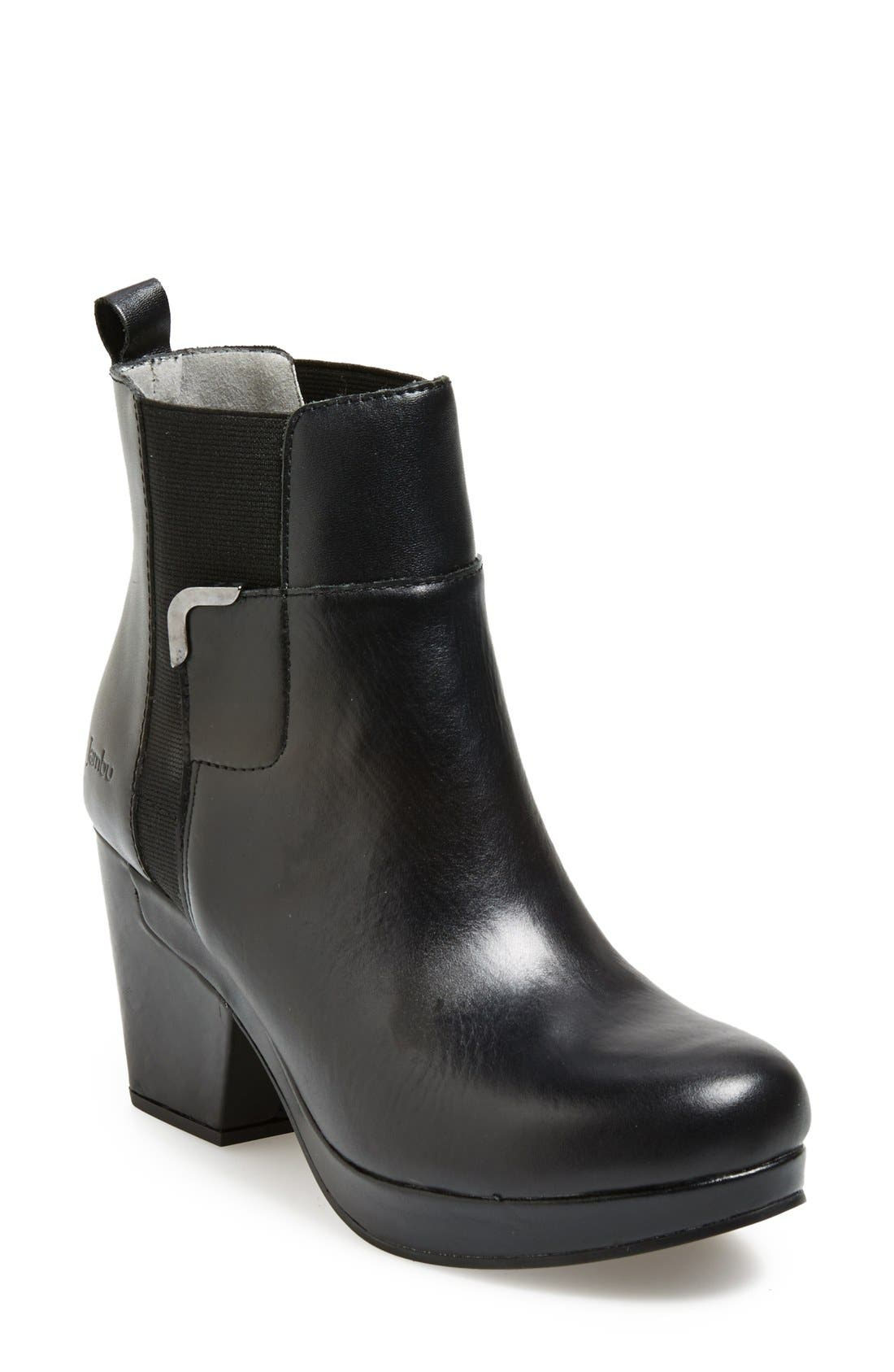 'Summit' Leather Bootie,                             Main thumbnail 1, color,                             Black