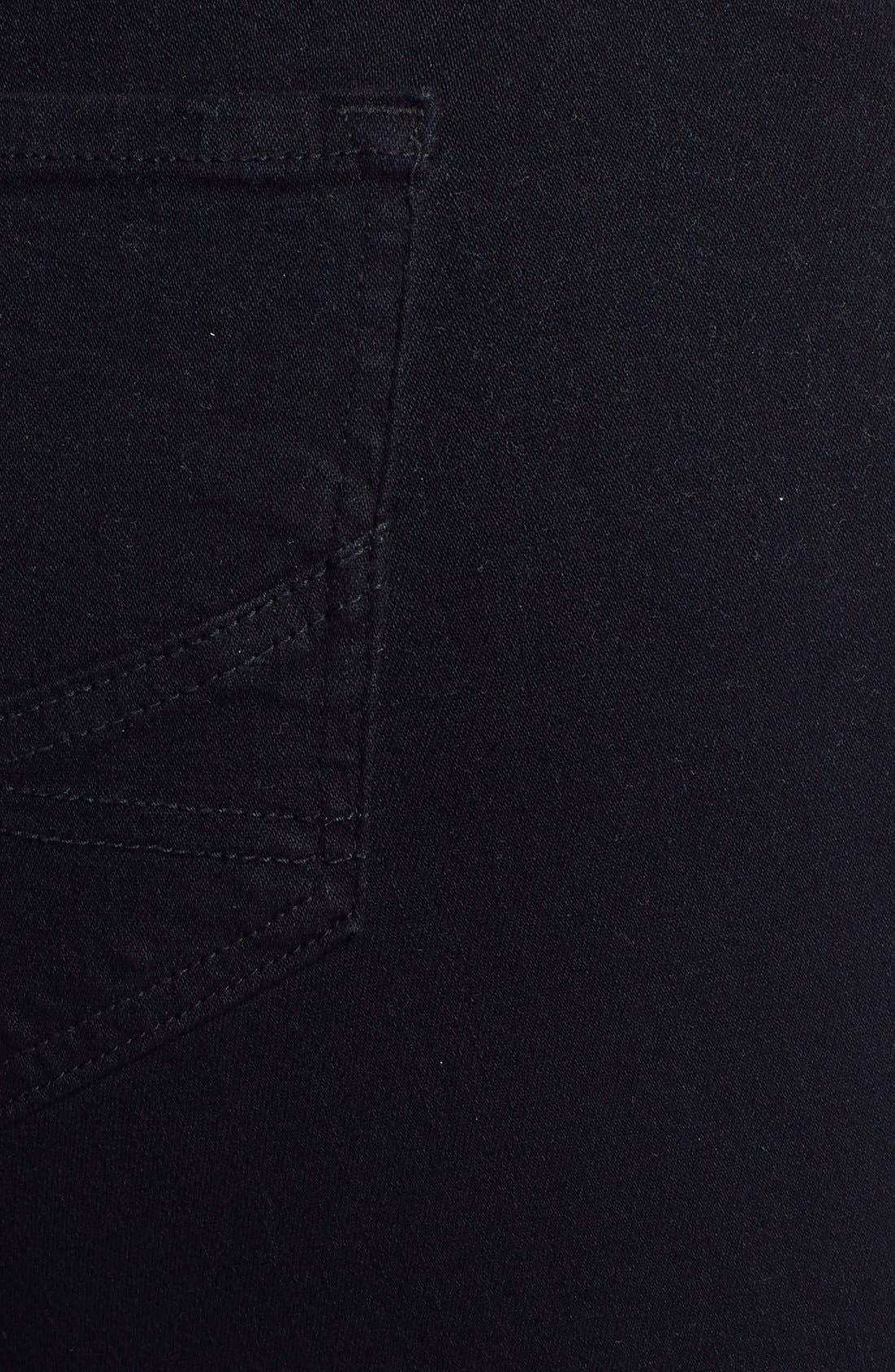 Alternate Image 3  - NYDJ 'Marilyn' Stretch Straight Leg Jeans (Black) (Plus Size)