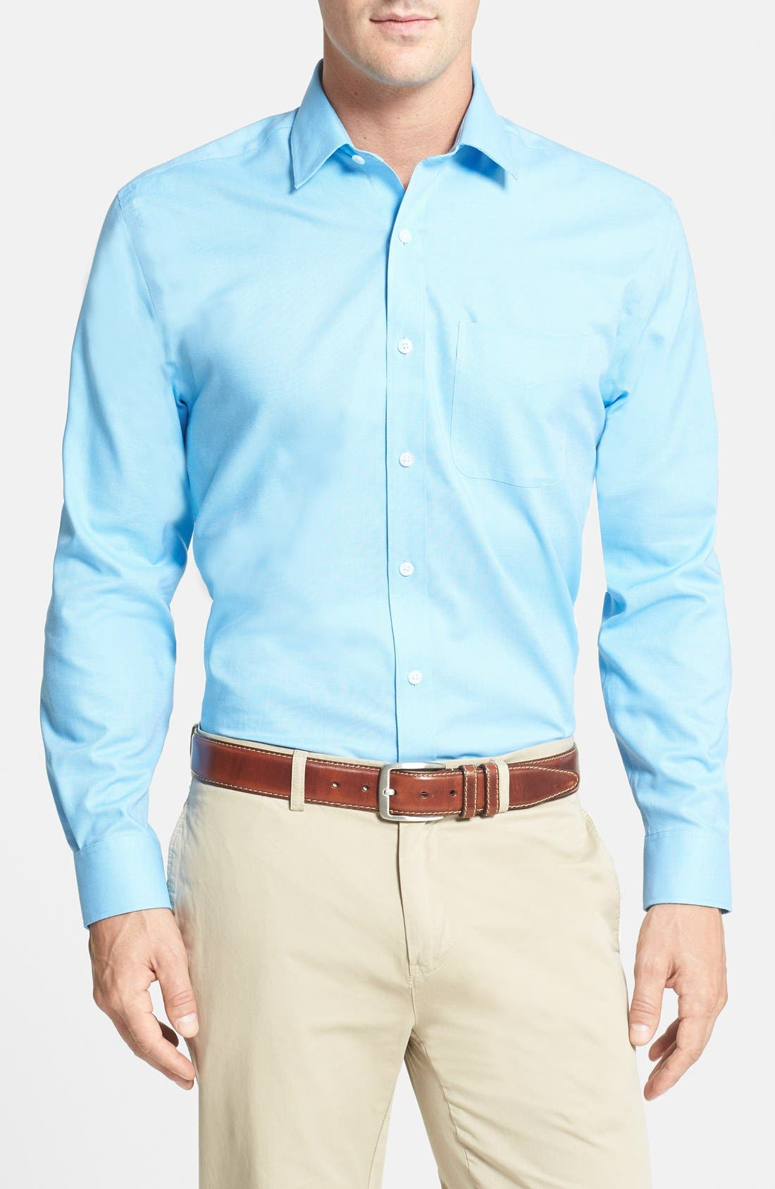 Epic Easy Care Classic Fit Wrinkle Free Sport Shirt,                         Main,                         color, Atlas Blue