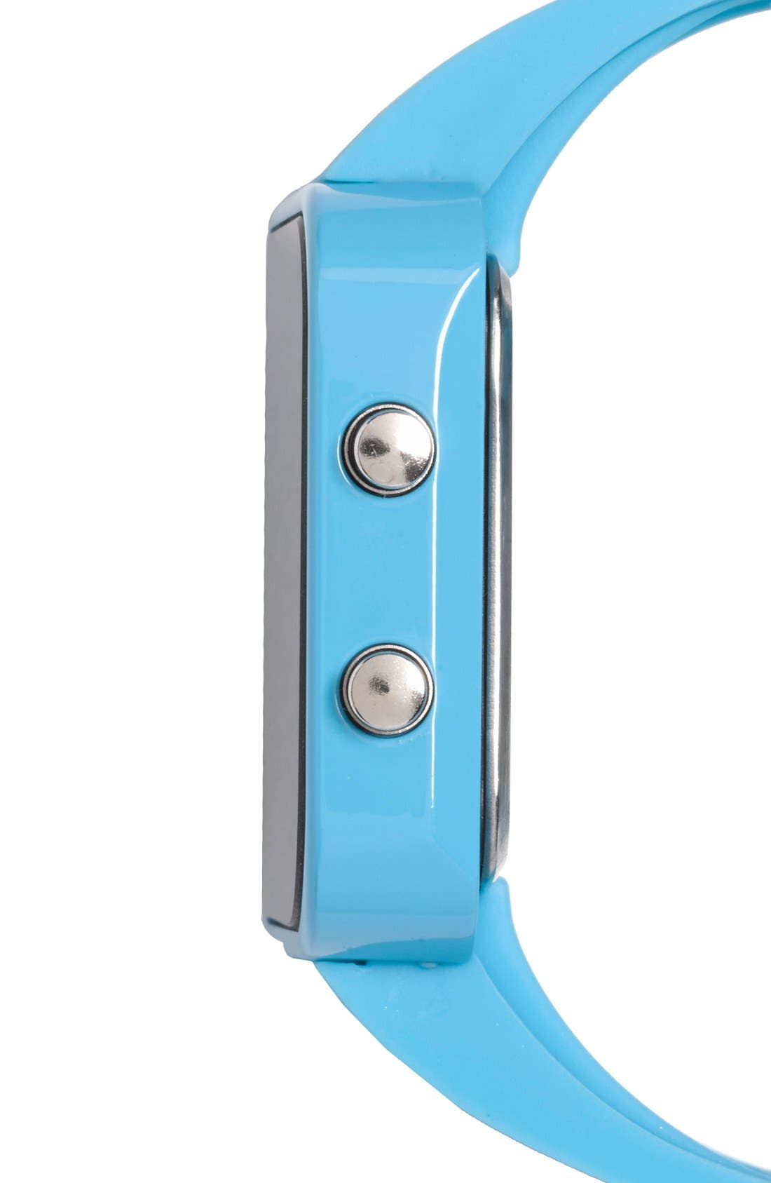 Alternate Image 5  - 1:Face 'Environment' Square Digital Silicone Strap Watch, 38mm