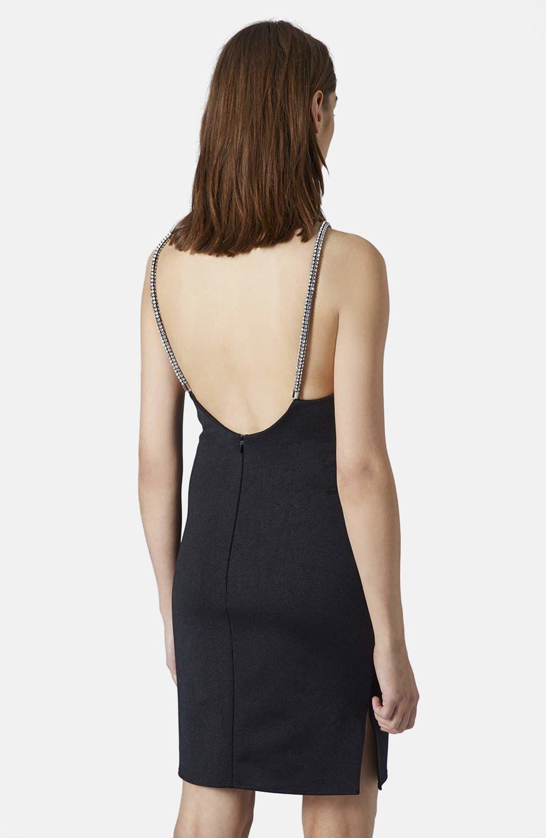 Alternate Image 2  - Topshop 'Diamante' Embellished Body-Con Dress
