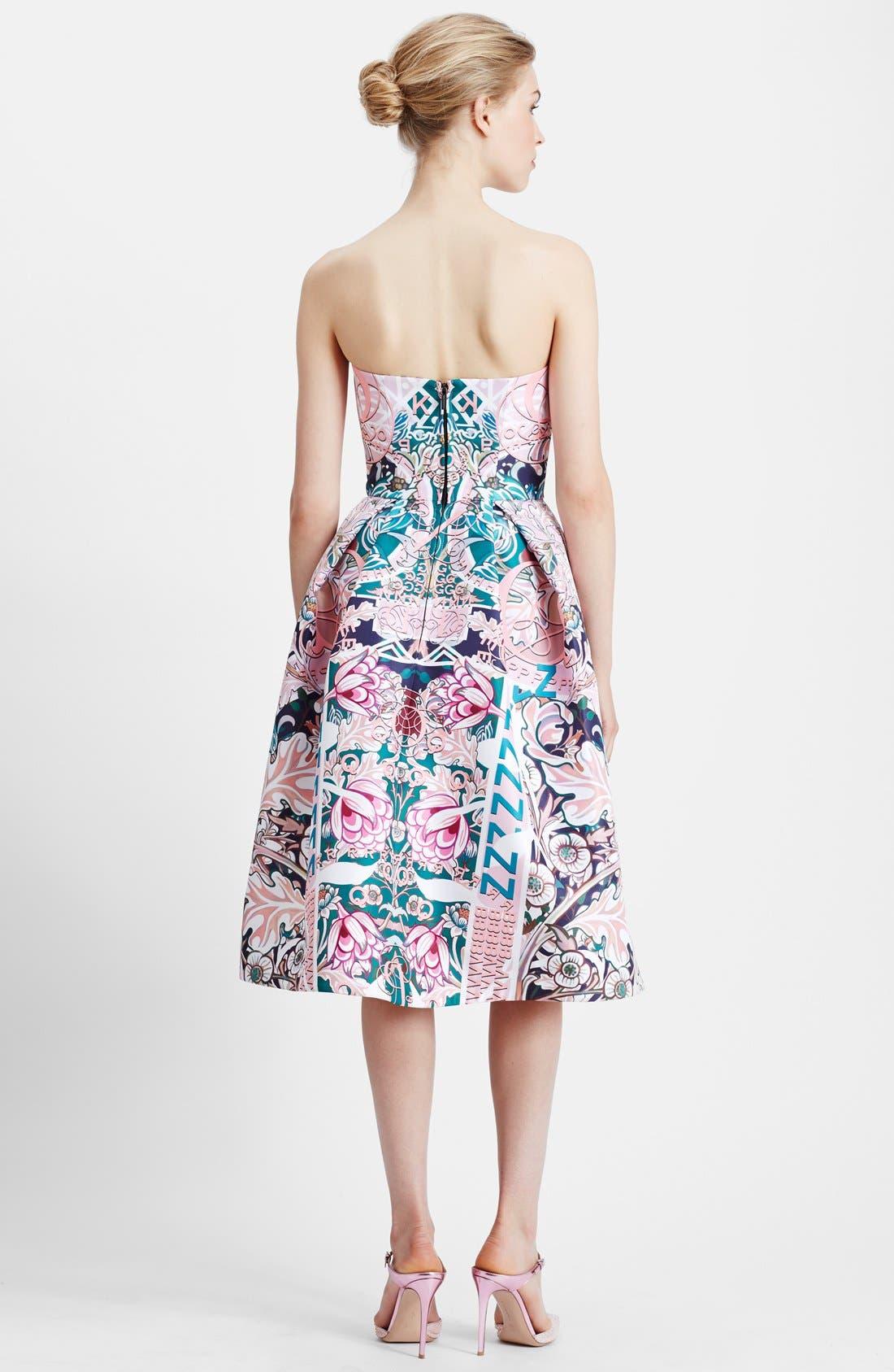 Alternate Image 2  - Mary Katrantzou Print Strapless Fit & Flare Dress