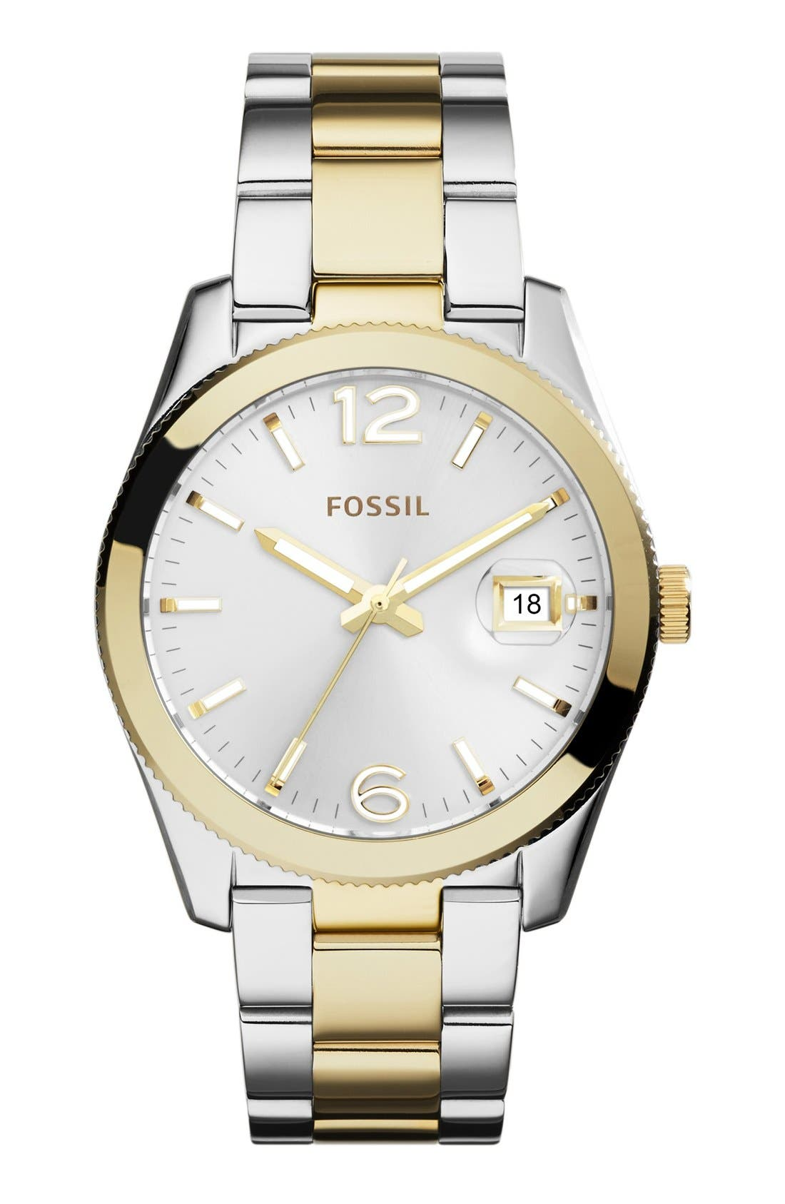 Main Image - Fossil Perfect Boyfriend Bracelet Watch, 39mm