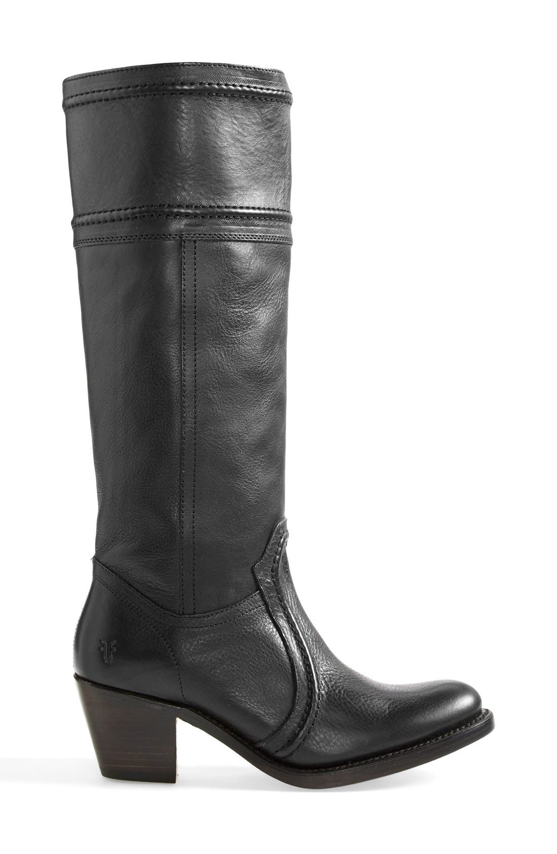 'Jane 14' Tall Pull-On Boot,                             Alternate thumbnail 4, color,                             Black