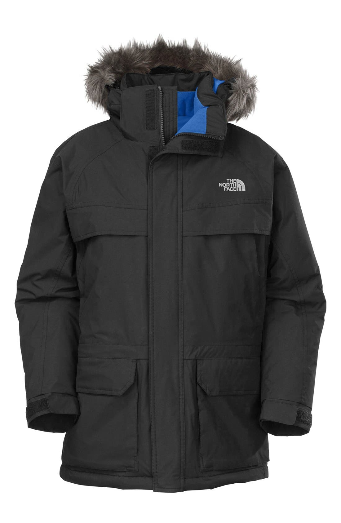 Main Image - The North Face 'McMurdo' HyVent® Waterproof Heatseeker Parka with Faux Fur Trim (Big Boys)