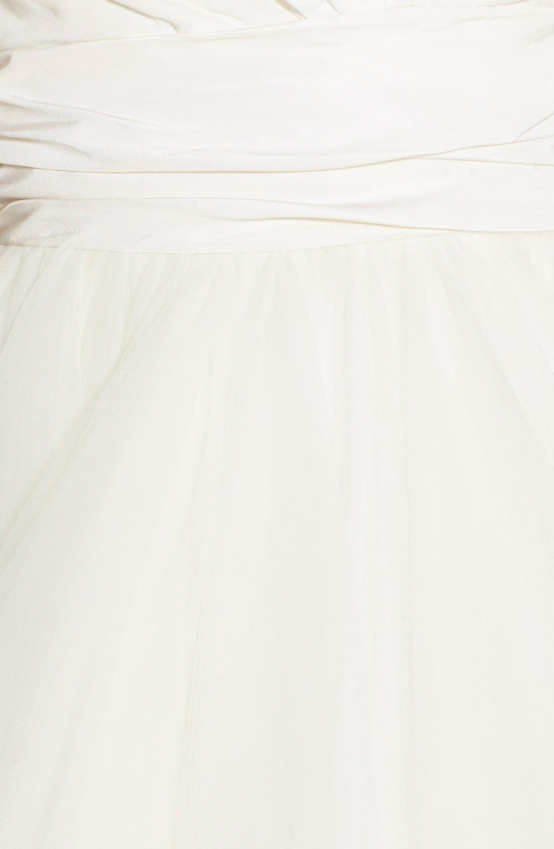 Alternate Image 2  - Hayley Paige 'Londyn' Silk & Tulle Ballgown (In Stores Only)