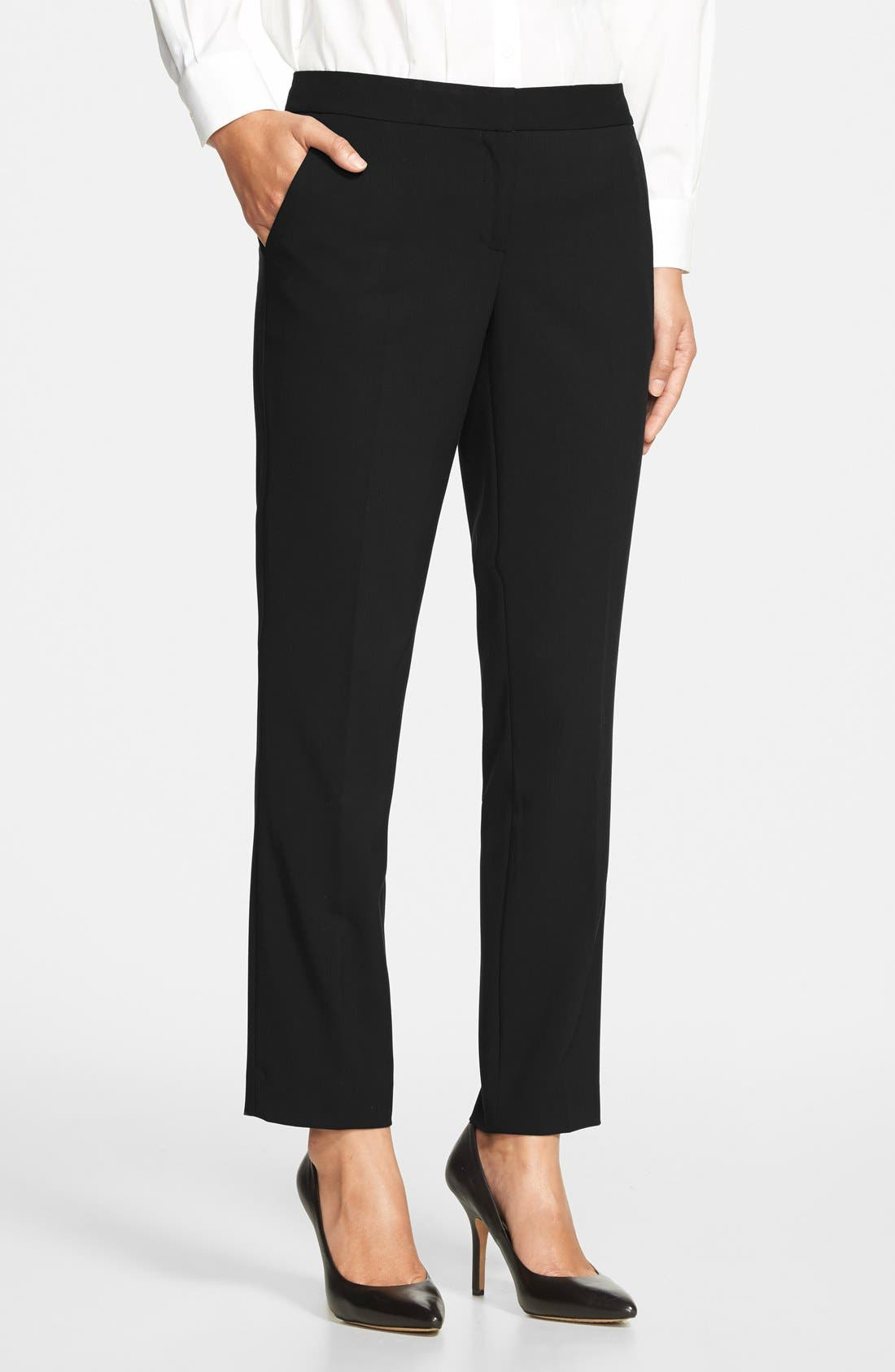 Skinny Ankle Pants,                             Main thumbnail 1, color,                             Rich Black