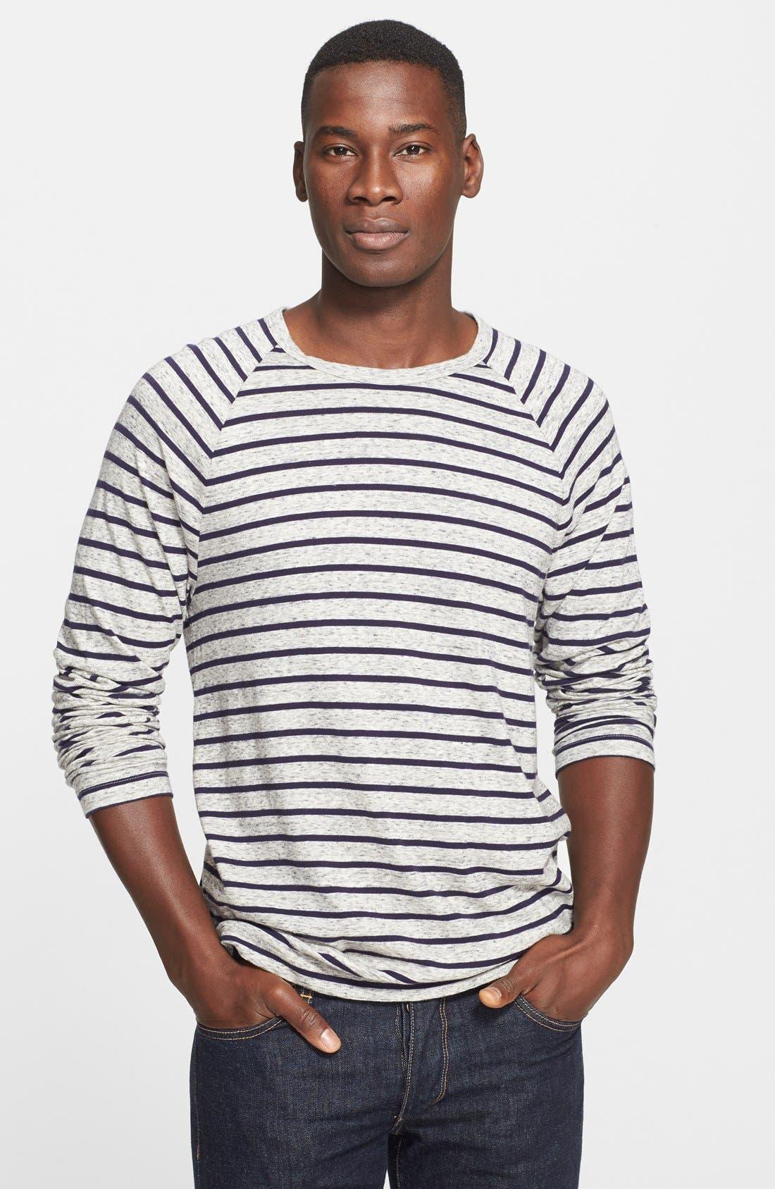 James Perse Stripe Raglan Shirt