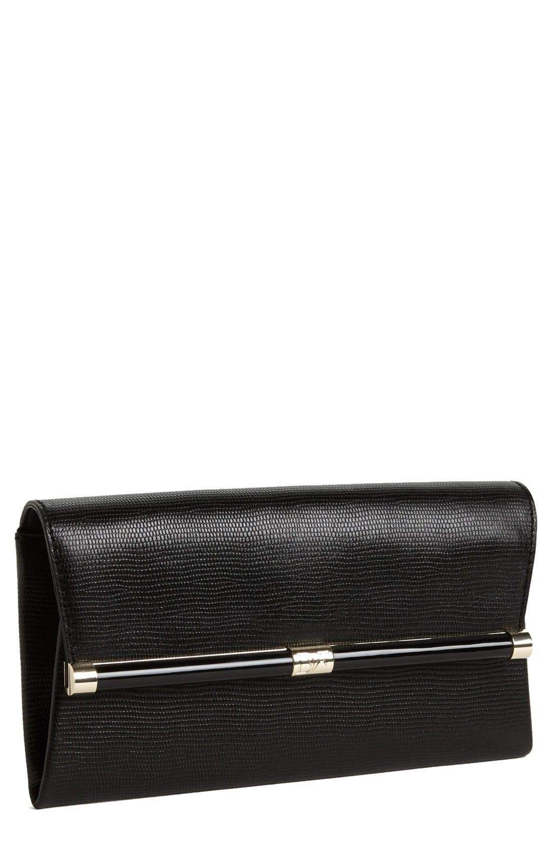 Main Image - Diane von Furstenberg '440' Leather Envelope Clutch