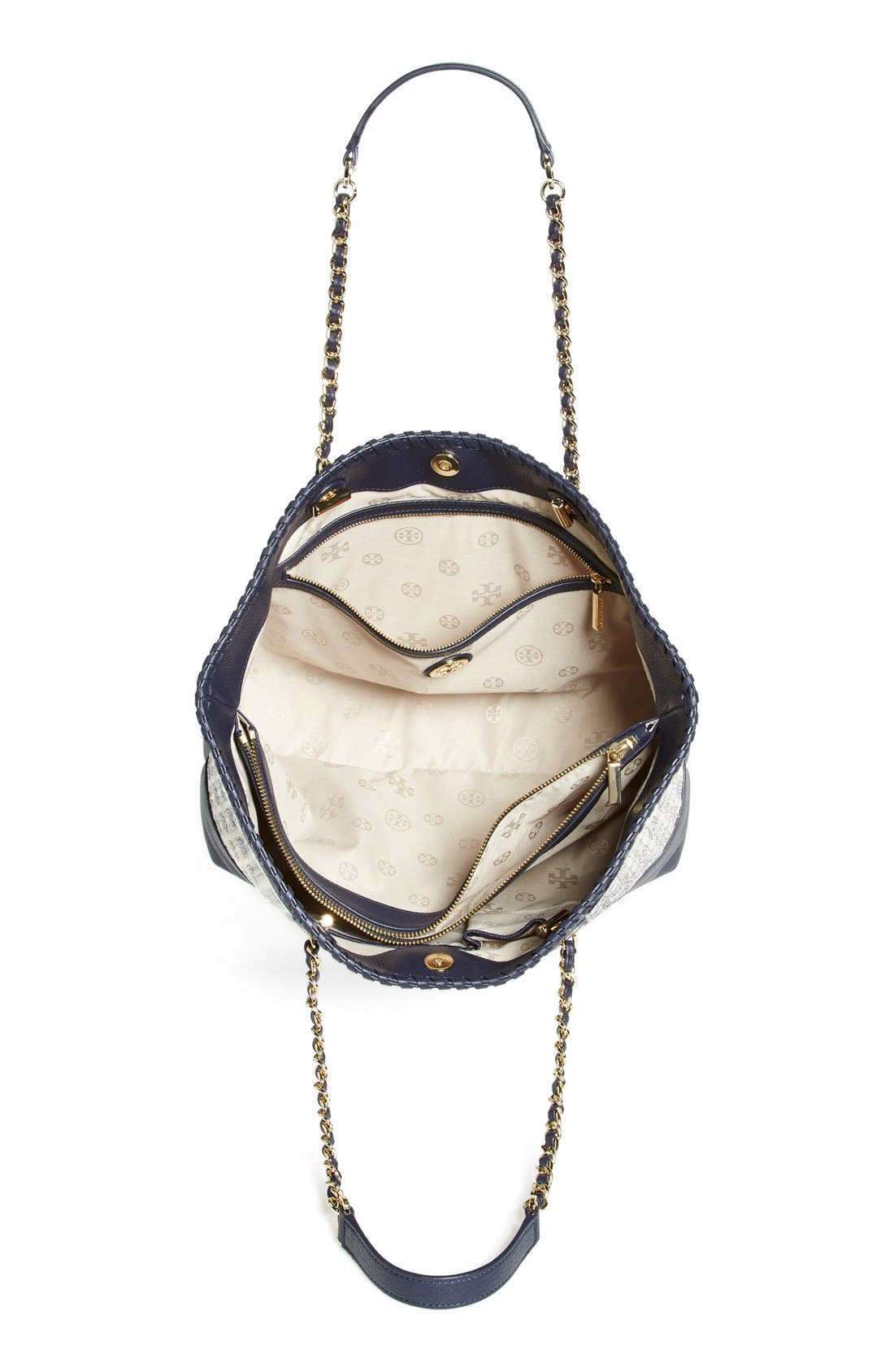 Alternate Image 3  - Tory Burch 'Marion' Woven Straw Tote