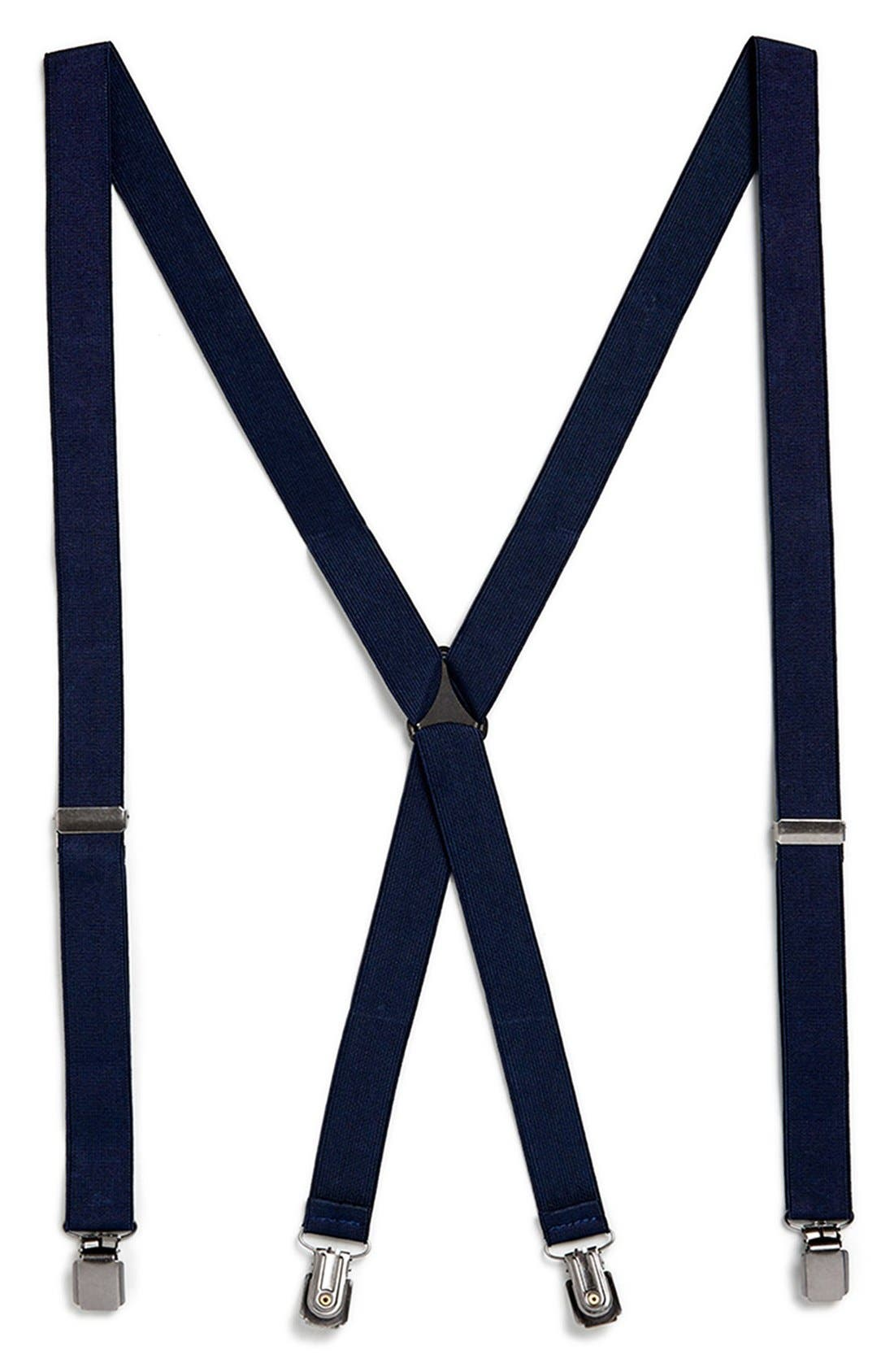 Main Image - Topman Navy Suspenders