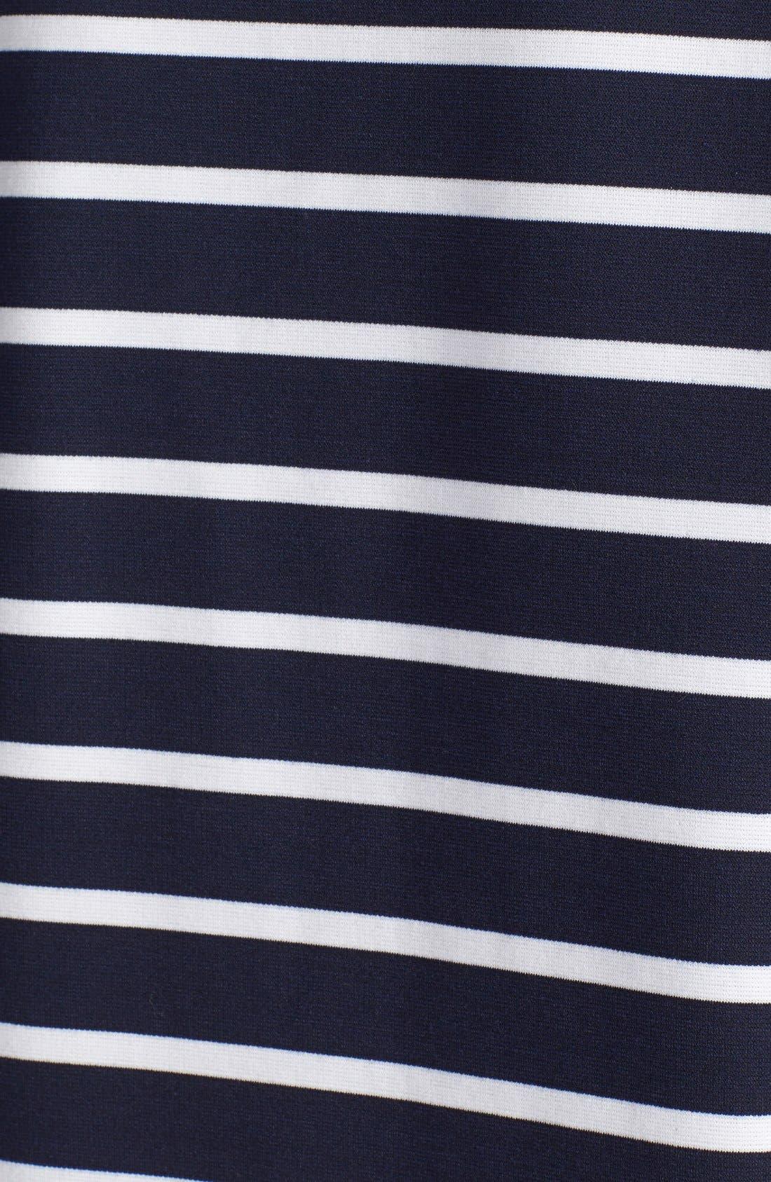 Alternate Image 3  - BB Dakota 'Phillipa' Stripe Ponte Shift Dress