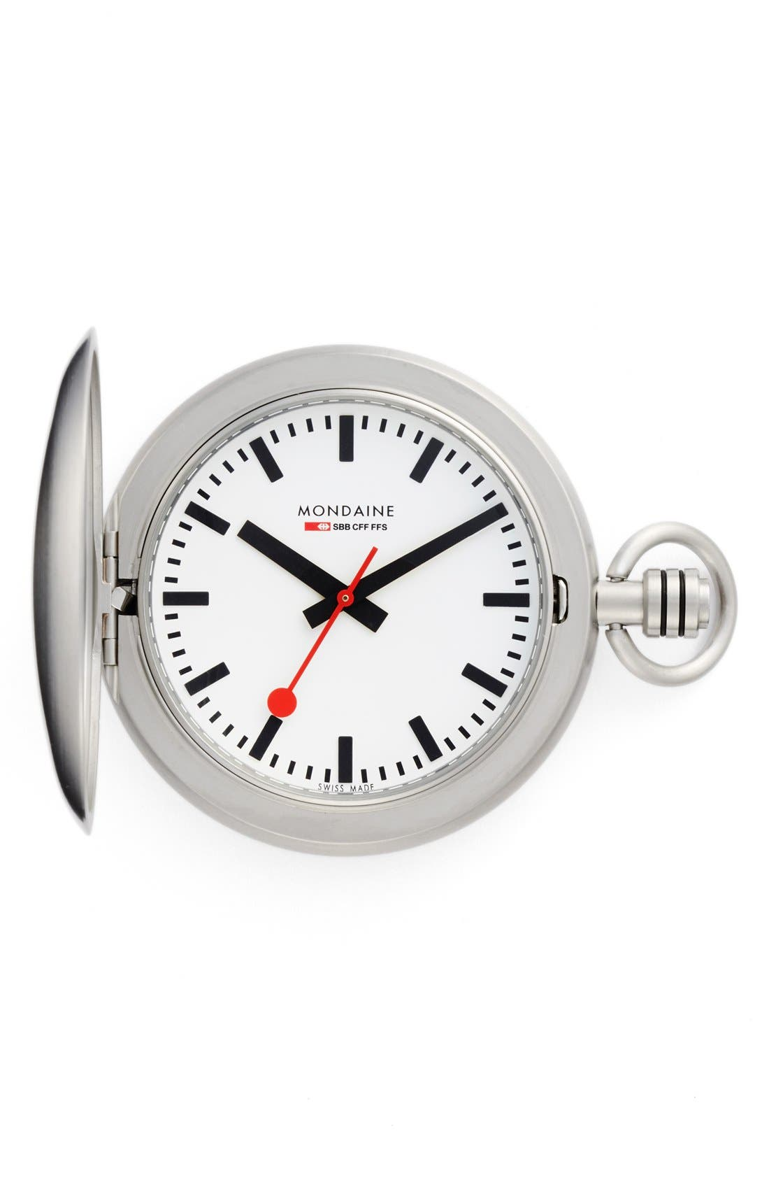 Alternate Image 3  - Mondaine 'Savonnette II' Pocket Watch, 51mm