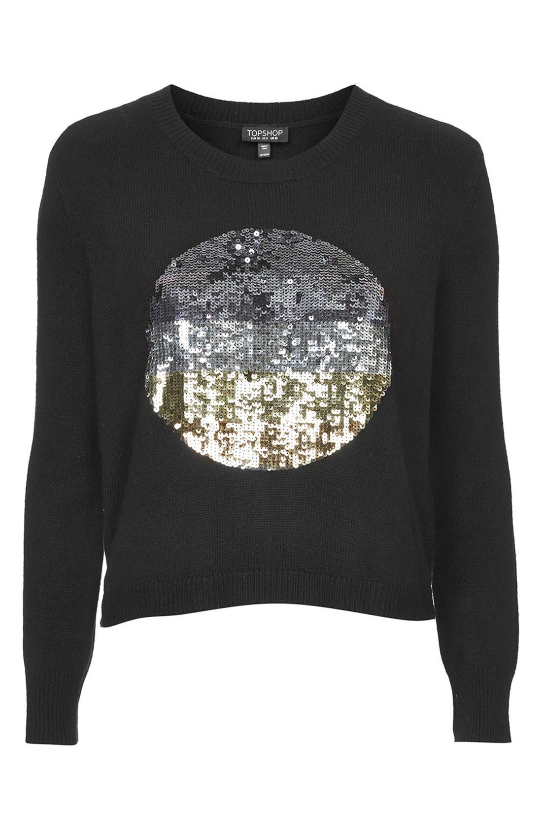 Alternate Image 3  - Topshop Sequin Spot Sweater