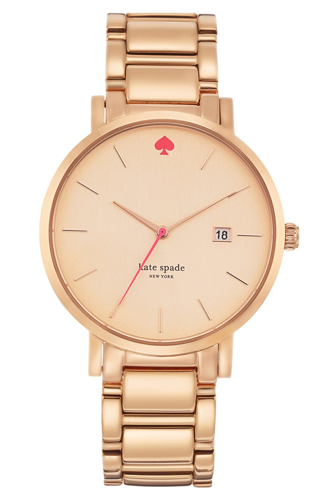Alternate Image 1 Selected - kate spade new york 'gramercy grand' bracelet watch, 38mm