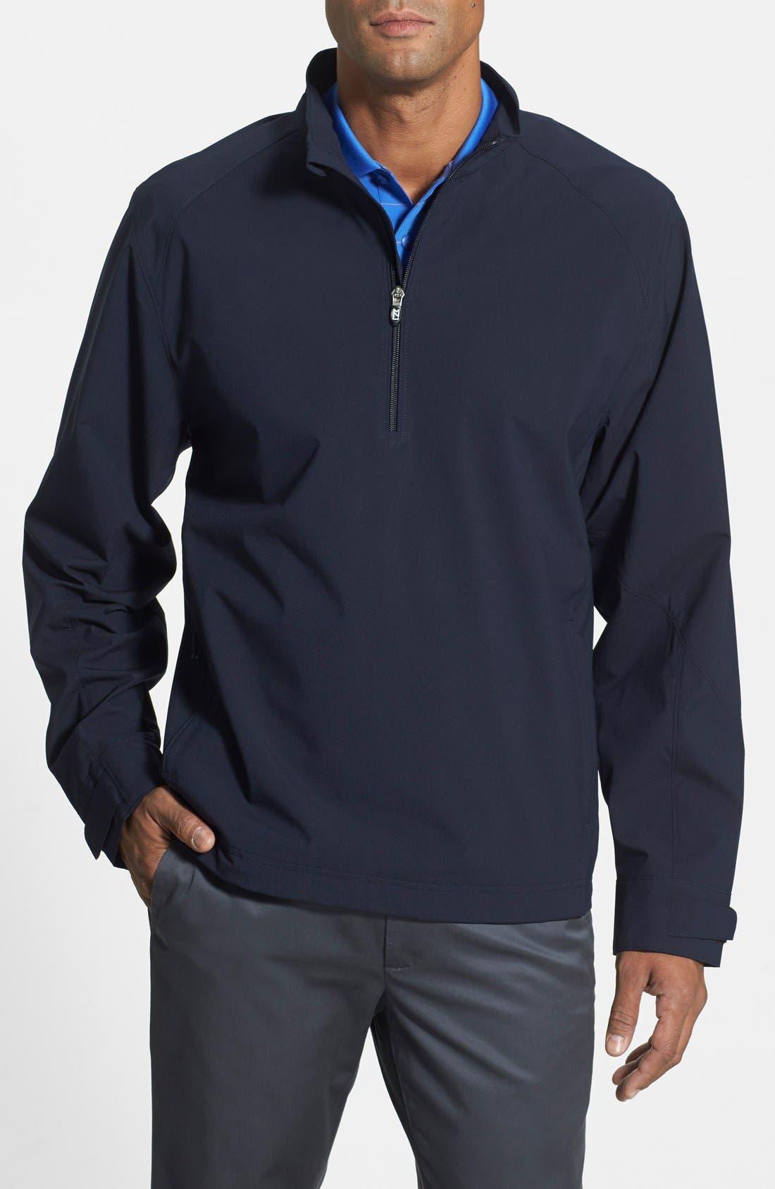 'Summit' WeatherTec Wind & Water Resistant Half Zip Jacket,                         Main,                         color, Navy Blue