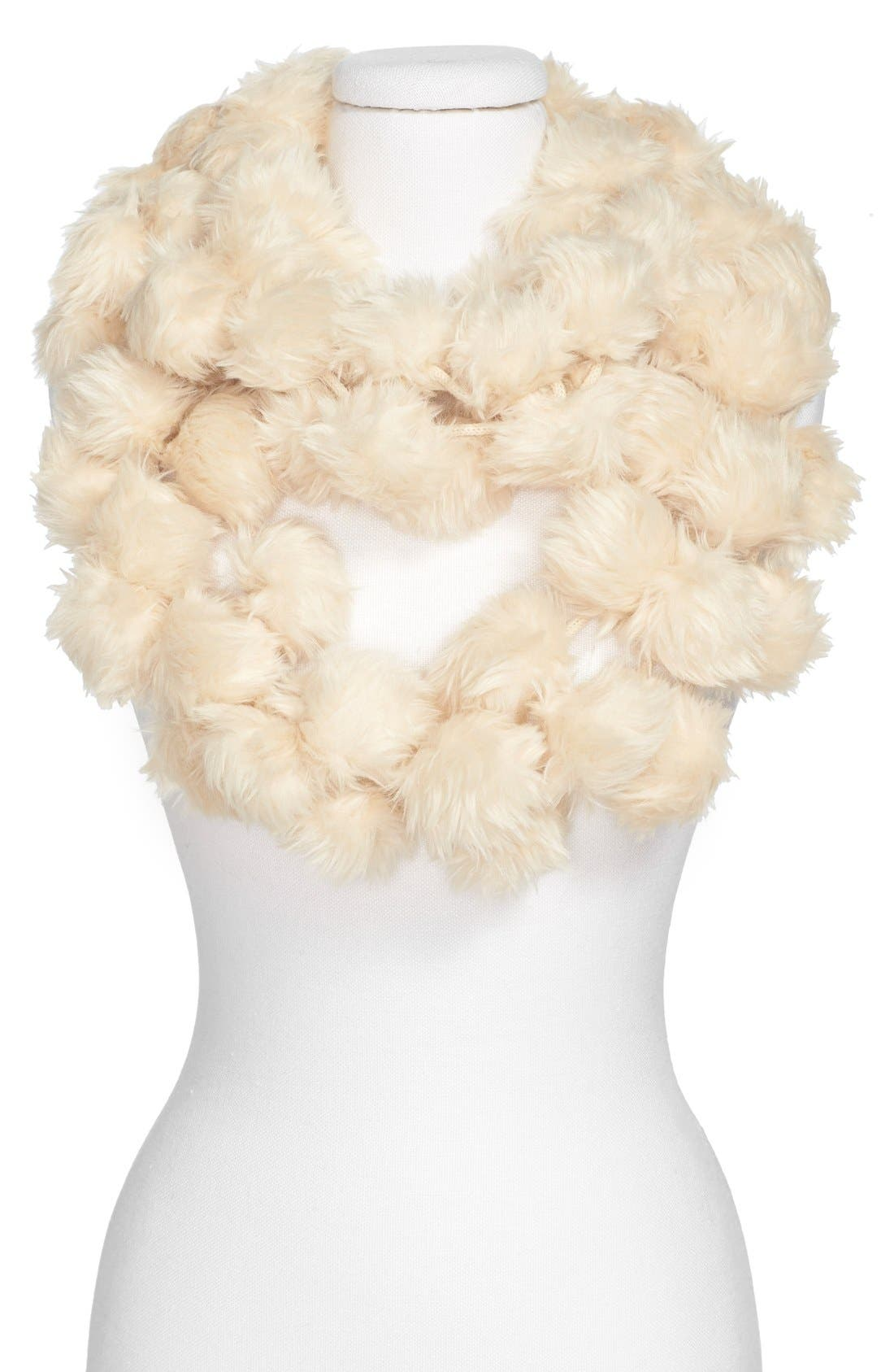 Main Image - Leith Faux Fur Pom Infinity Scarf