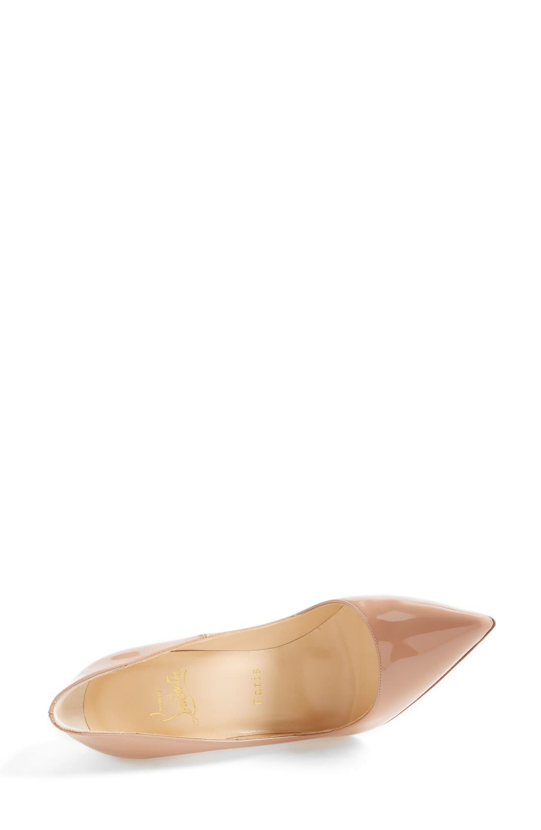 'So Kate' Pointy Toe Pump,                             Alternate thumbnail 3, color,                             Nude