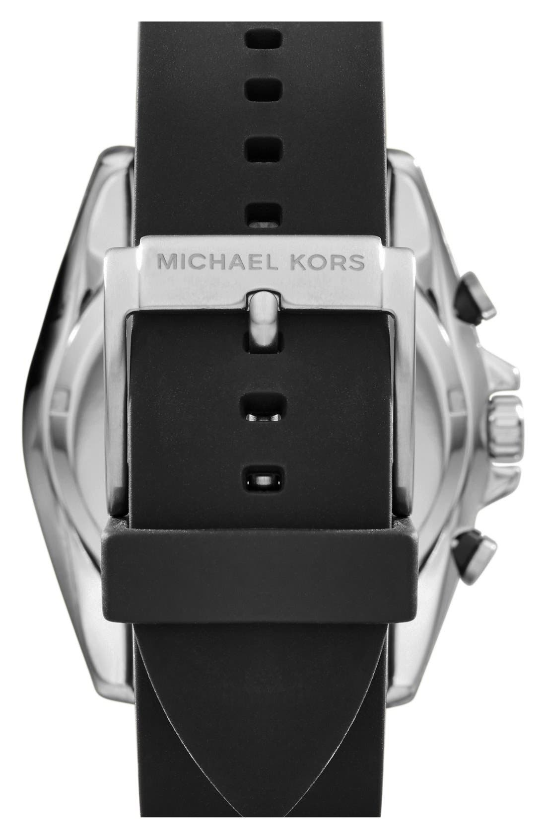 Alternate Image 2  - Michael Kors 'Lansing' Chronograph Silicone Strap Watch, 45mm