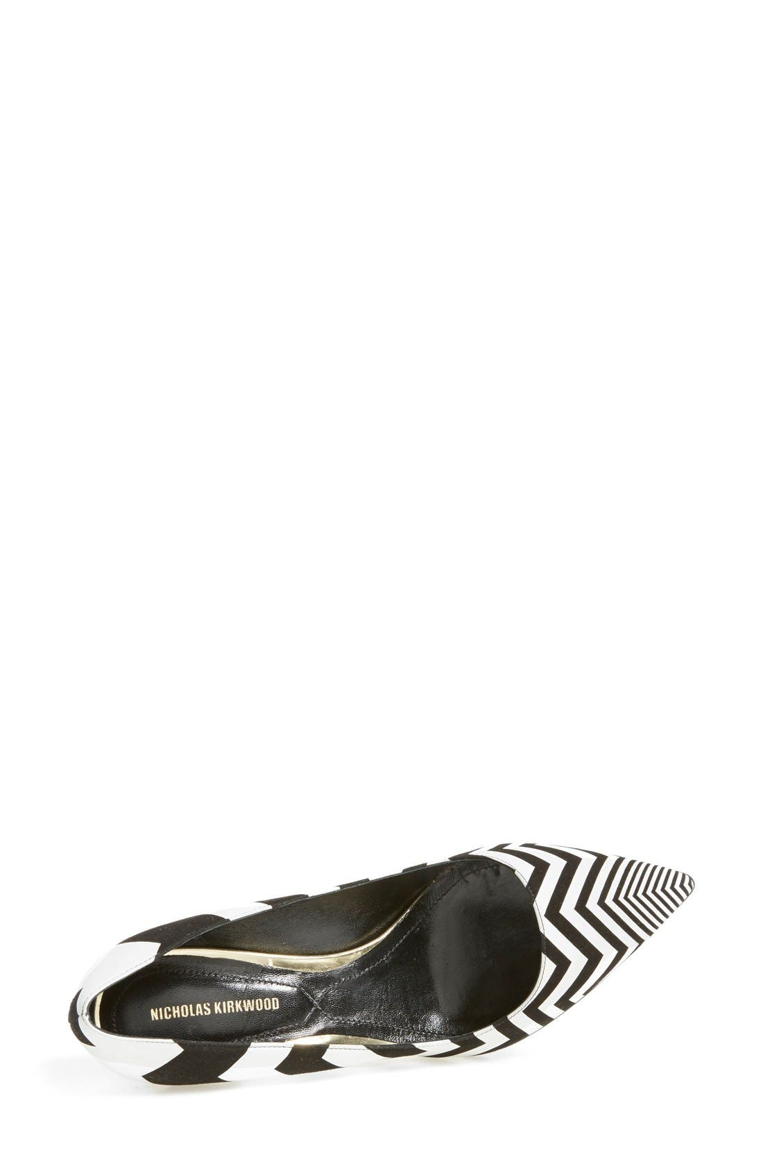 Alternate Image 3  - Nicholas Kirkwood Chevron Pointy Toe Pump (Women)