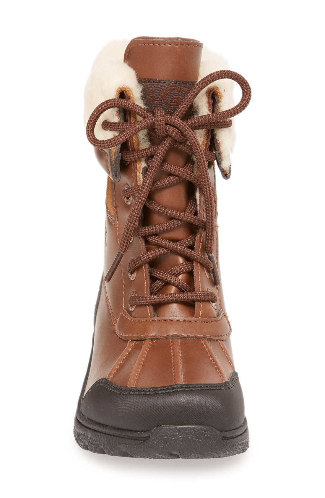 'Butte II' Waterproof Leather Boot,                             Alternate thumbnail 3, color,                             Worchester