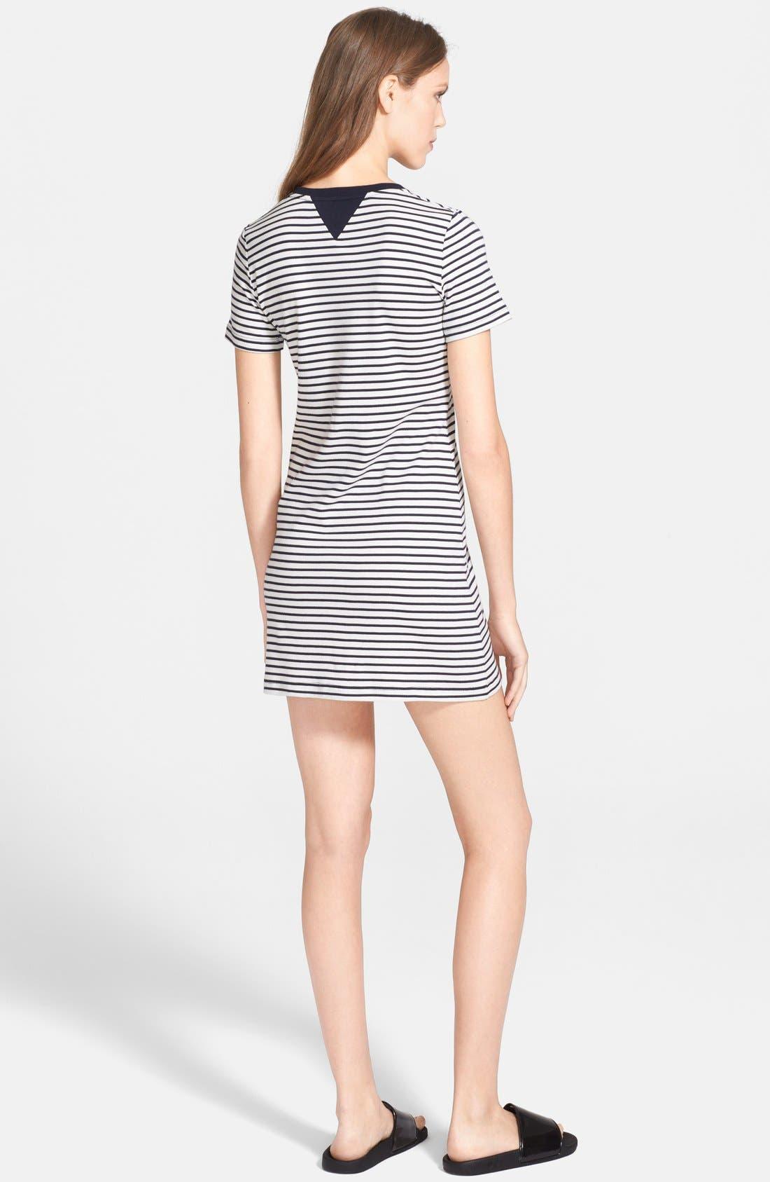 Alternate Image 2  - Theory 'Cherry' Stripe Pima Cotton T-Shirt Dress