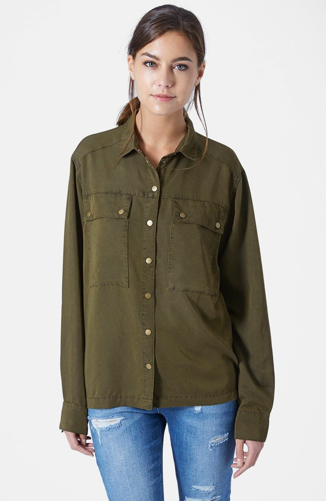 Main Image - Topshop Casual Button Front Shirt