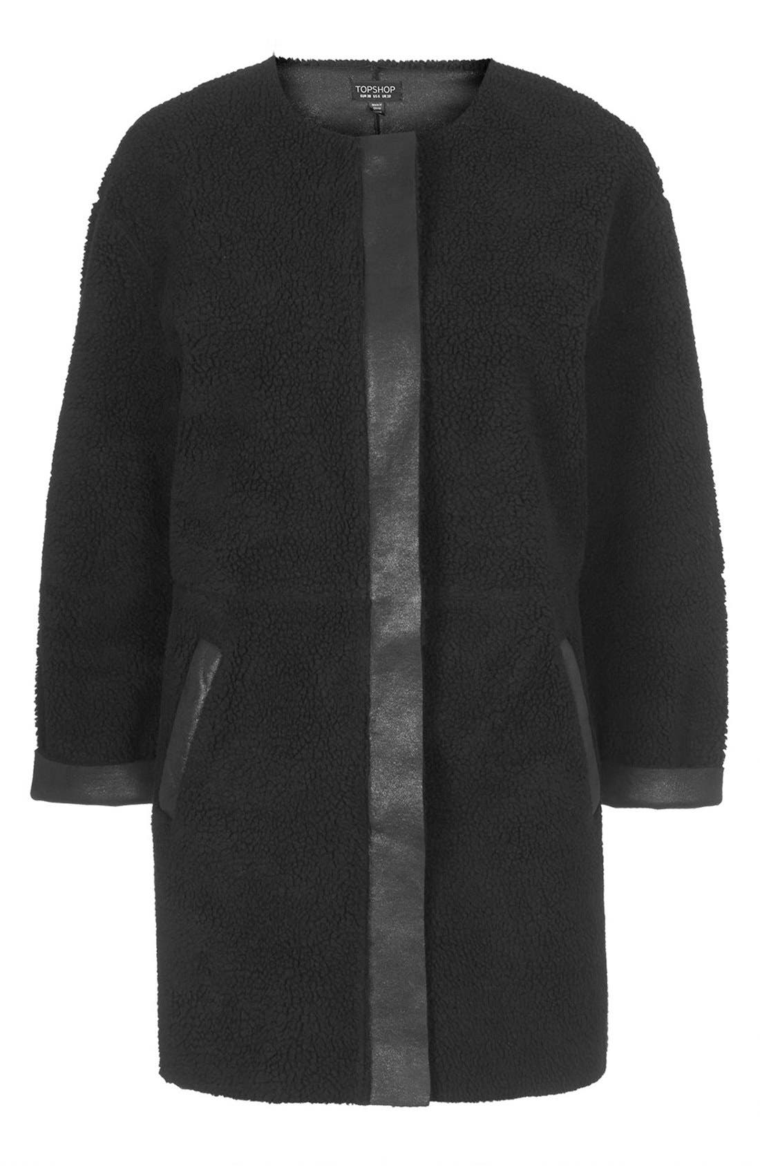 Alternate Image 3  - Topshop Faux Shearling Cocoon Jacket