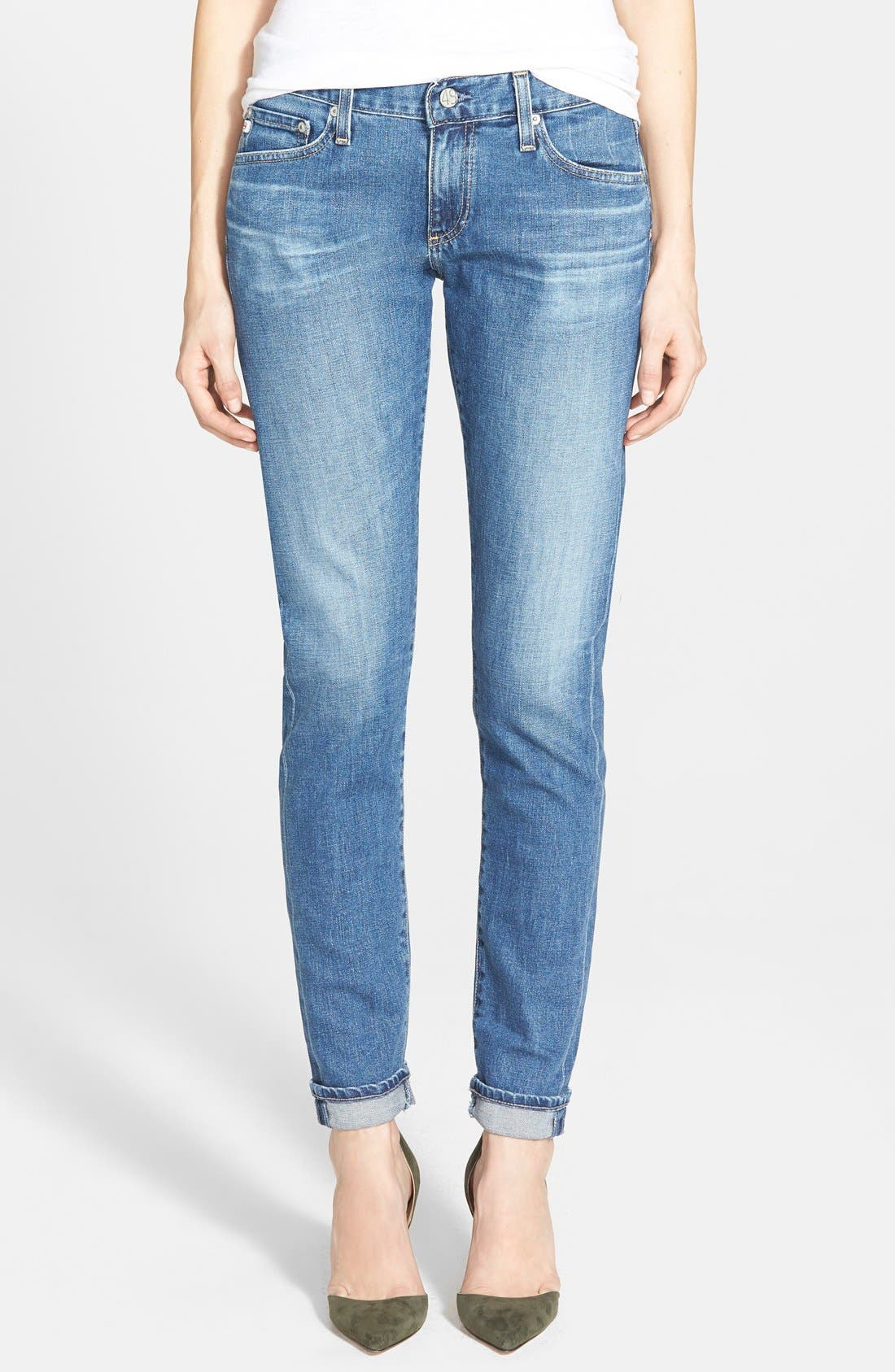 'The Nikki' Relaxed Skinny Jeans,                         Main,                         color, 8 Year Tundra