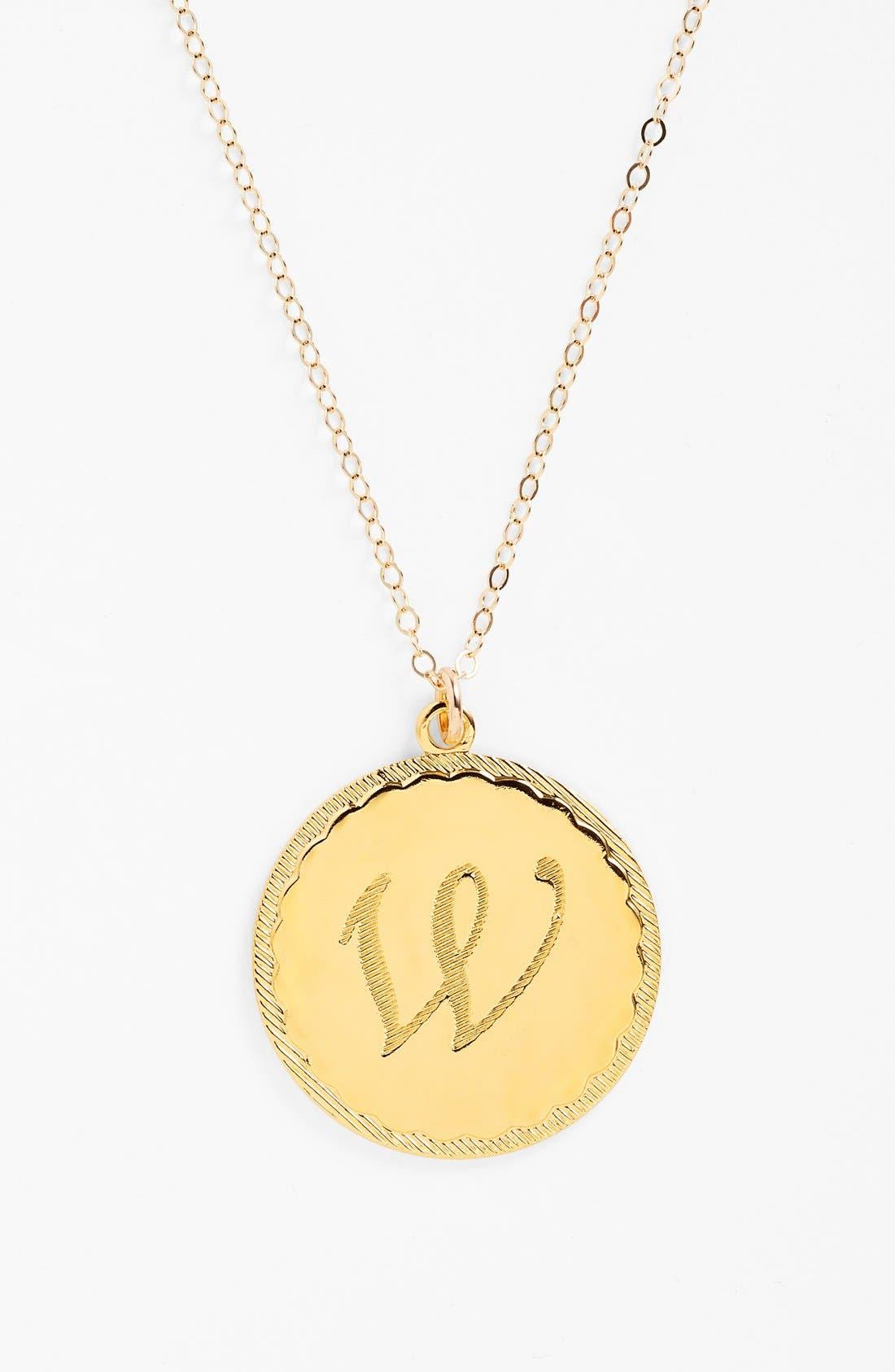 'Dalton' Long Initial Pendant Necklace,                         Main,                         color, Gold - W