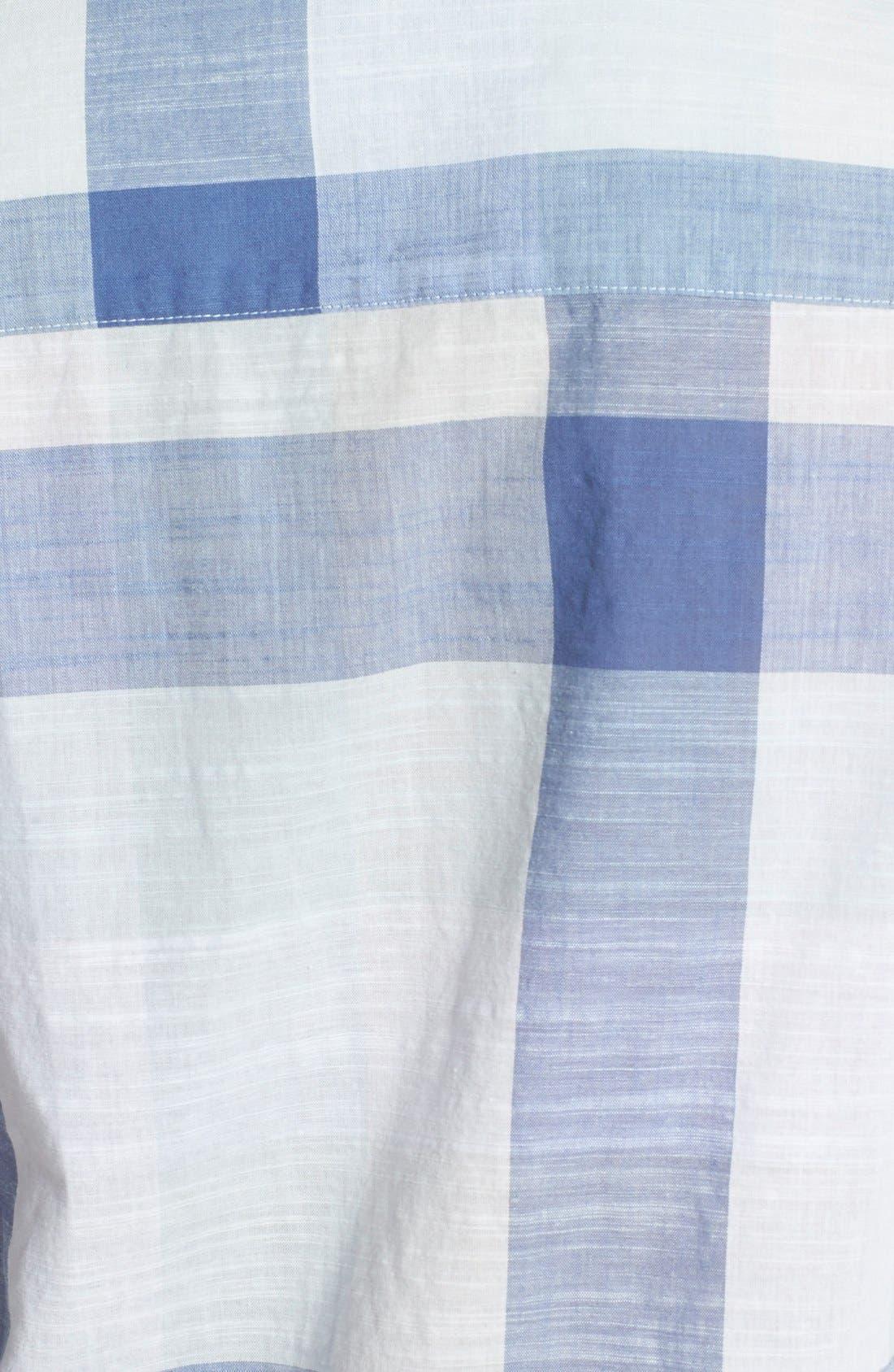 Alternate Image 3  - Foxcroft Buffalo Check Cotton Shirt (Regular & Petite)