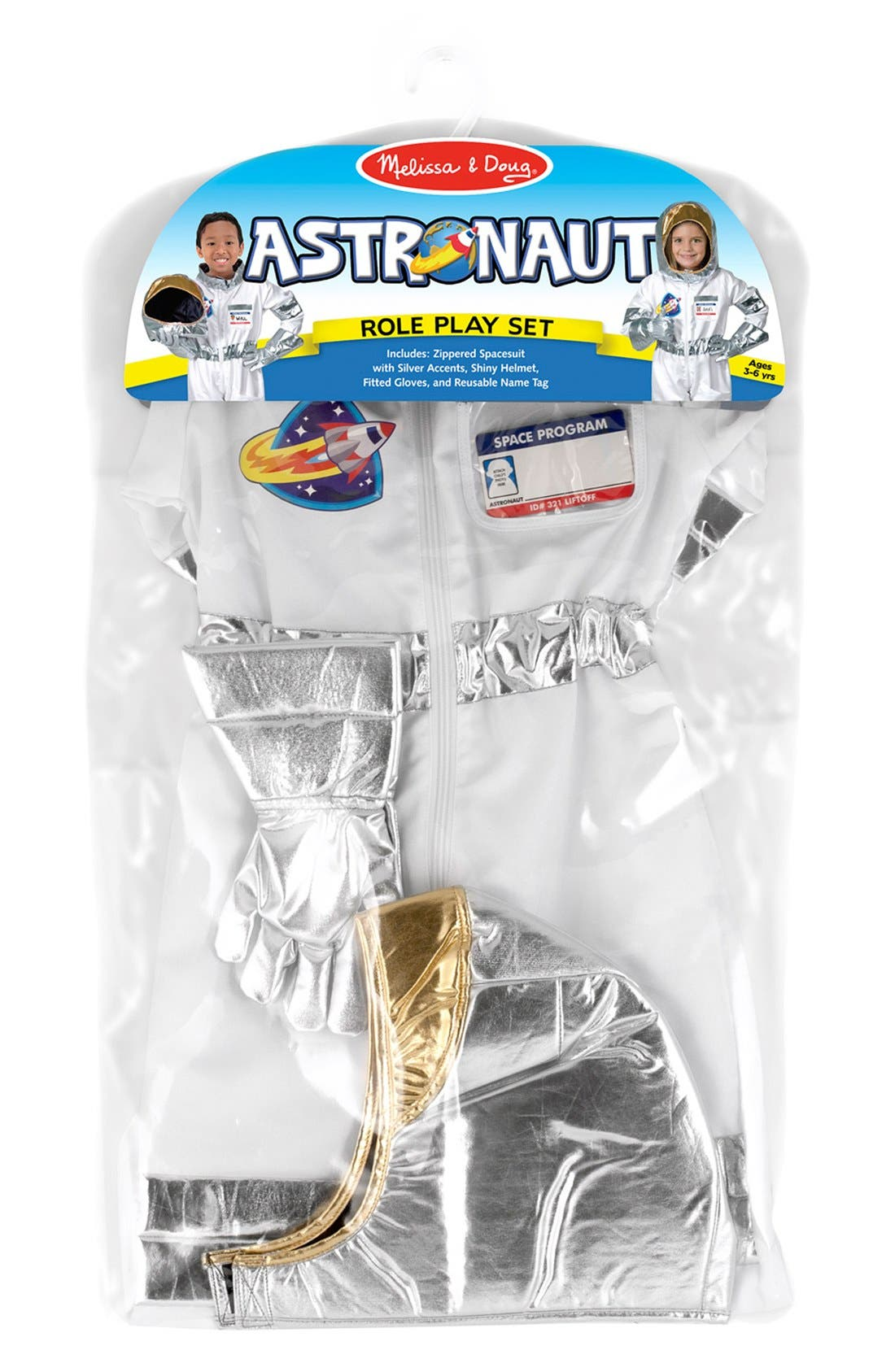Astronaut Role Play Set,                             Alternate thumbnail 2, color,                             Metallic Silver