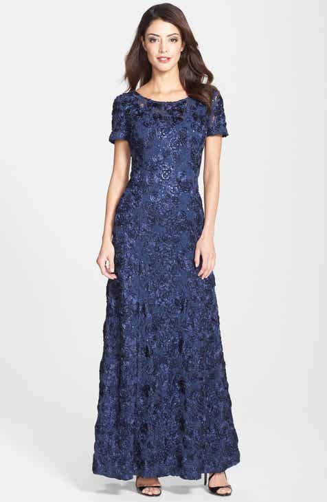8094ad87fd Alex Evenings Embellished Lace Gown (Regular & Petite)